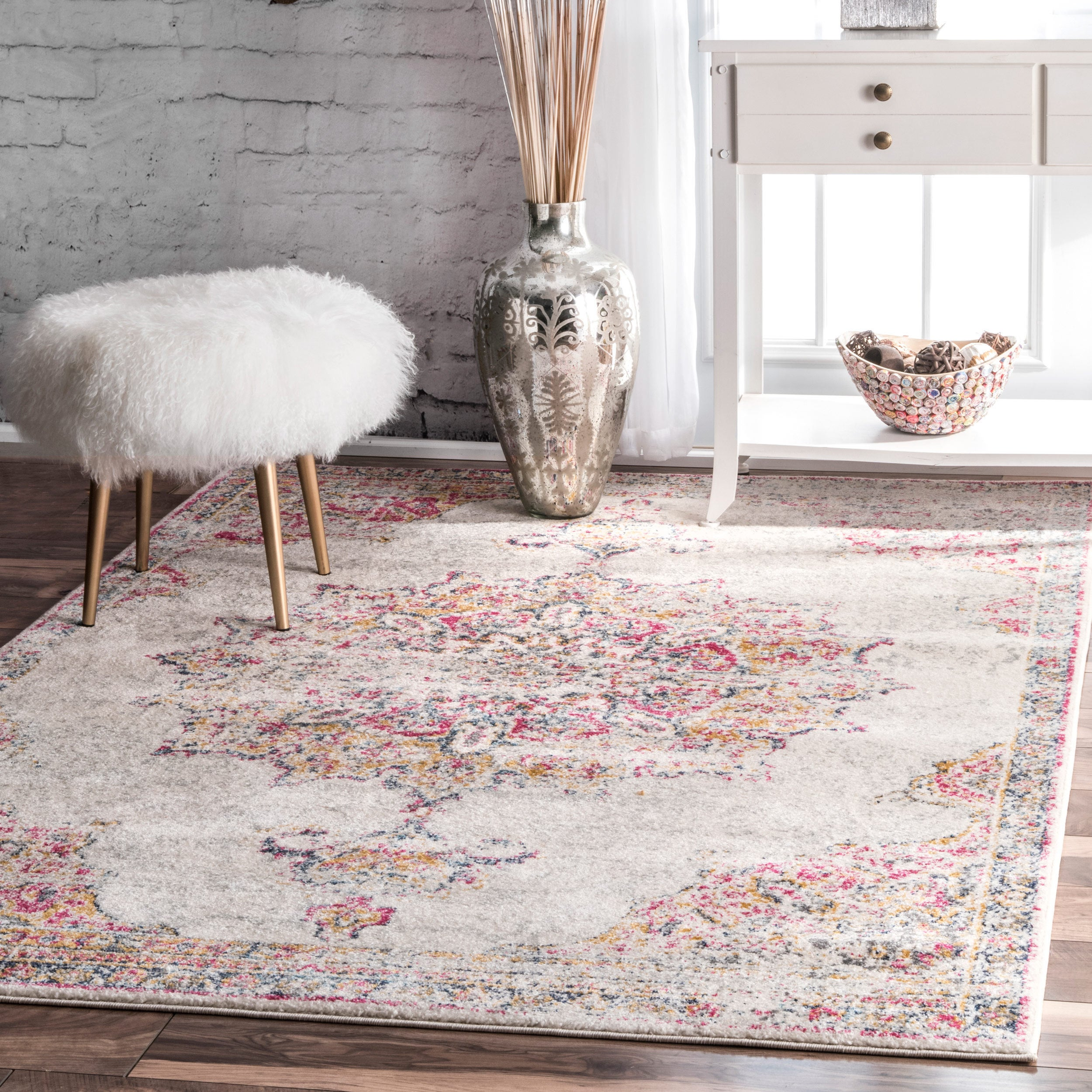 Shop Nuloom Vintage Persian Medallion Area Rug On Sale Free