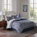 Madison Park Essentials August Navy Complete Bed and Sheet Set