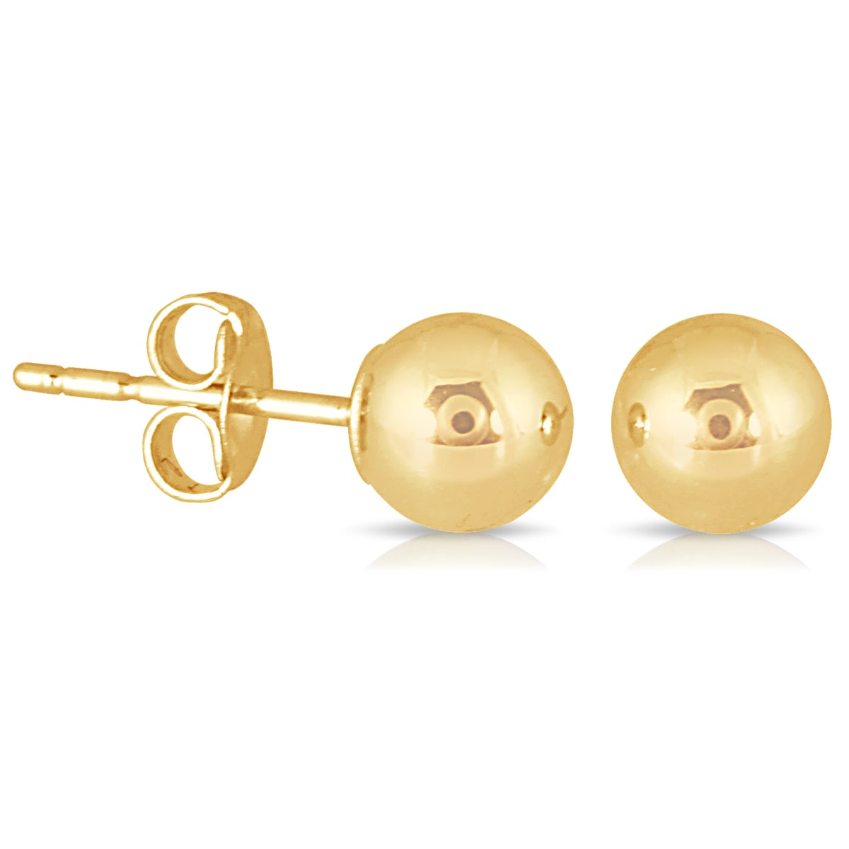a2ef85386 Shop Marquee Jewels 10k Yellow Gold 5-millimeter Ball Stud Earrings - On  Sale - Free Shipping On Orders Over $45 - Overstock - 12637413
