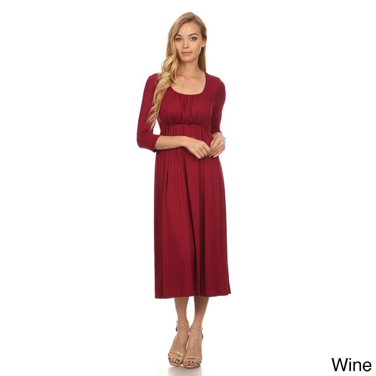 ce45ff716acc Shop Women's Solid-color Rayon/Spandex Maxi Dress - Free Shipping On Orders  Over $45 - Overstock - 12637474