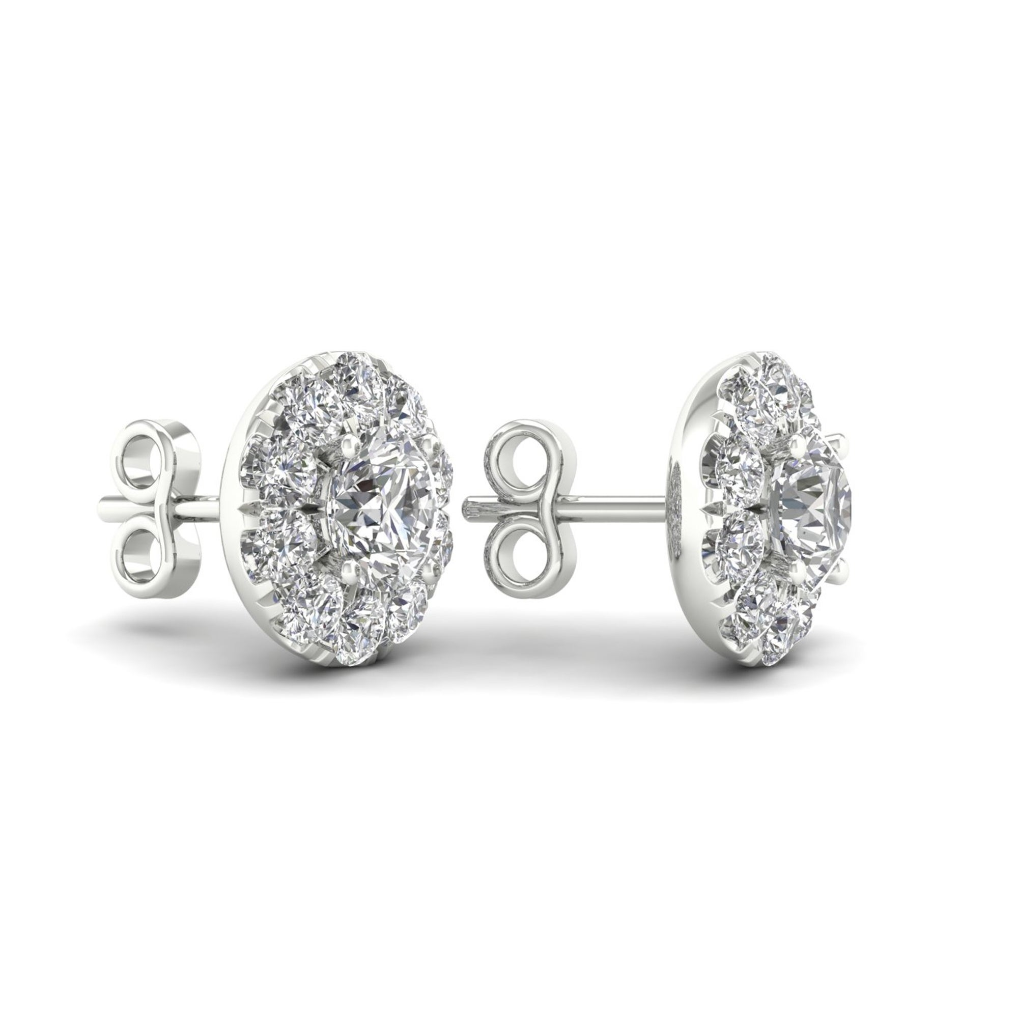 anniversary canadian halo collection studs lugaro stud earrings diamond
