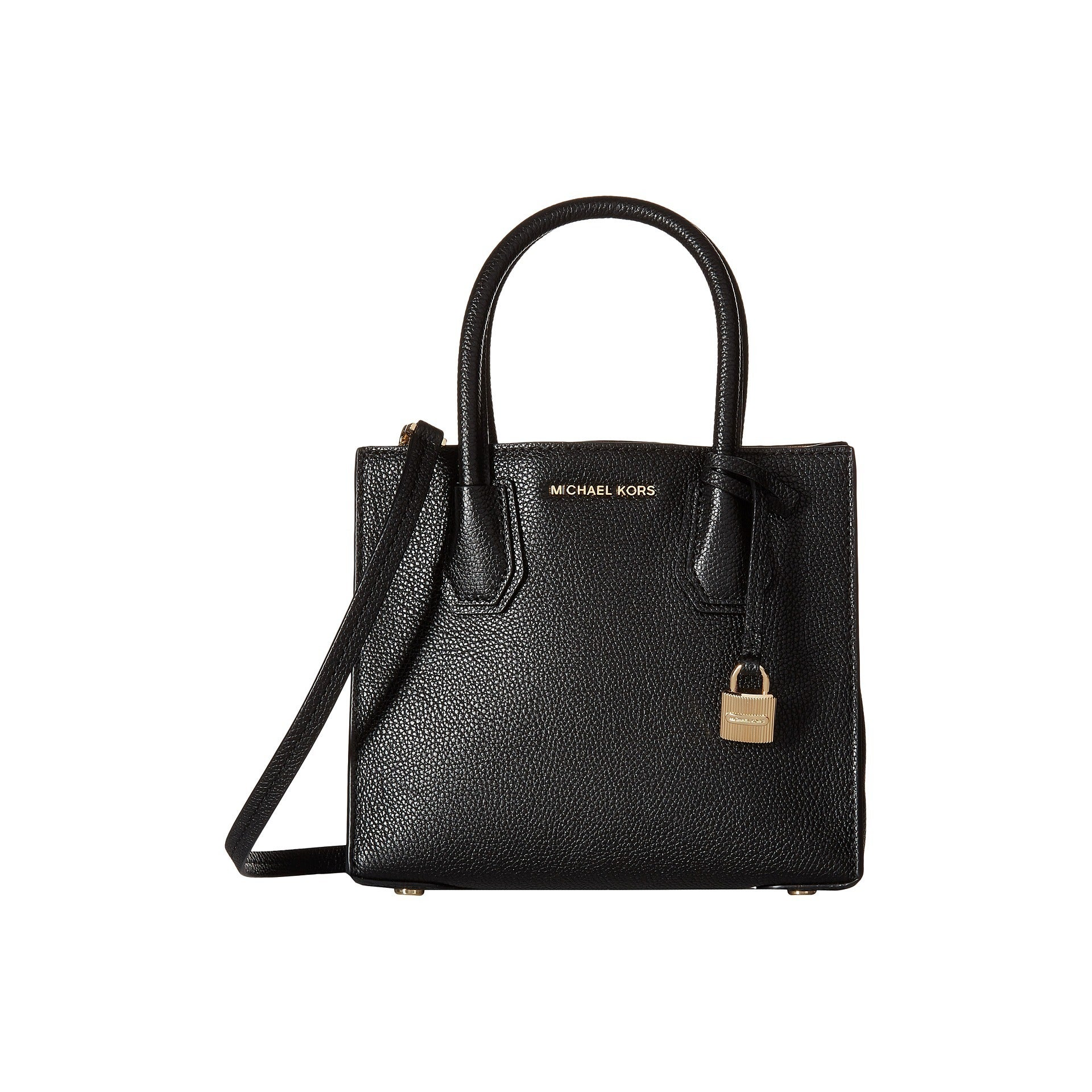 9001715f5fff Shop Michael Kors Mercer Black Leather Medium Crossbody Handbag - On Sale -  Free Shipping Today - Overstock - 12644156