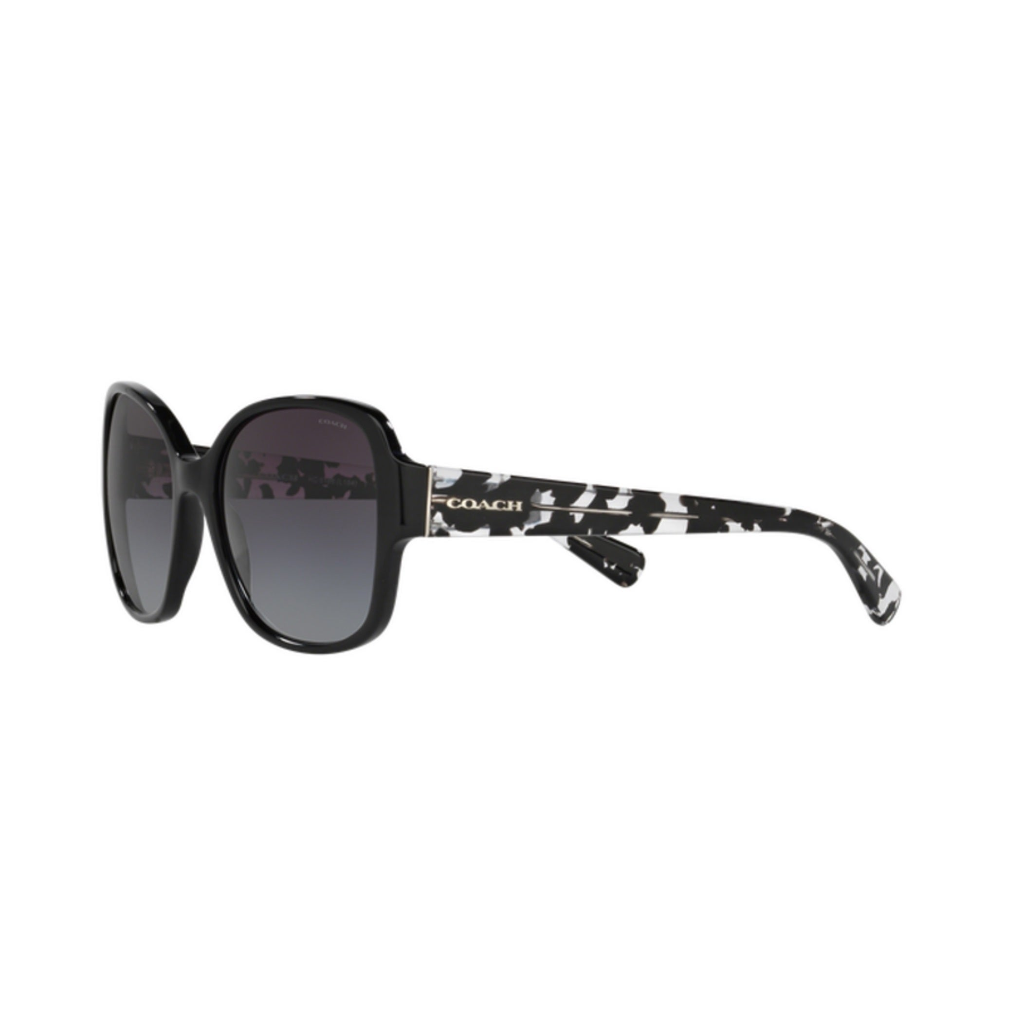 99f47c2c92 Shop Coach HC8166 L154 534811 Black Black Crystal Mosaic Womens Plastic  Butterfly Sunglasses - Ships To Canada - Overstock - 12647087