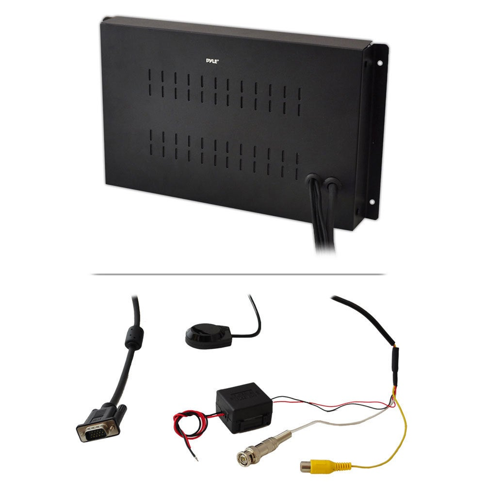 Shop Pyle Rbplvw19iw 19 Inch In Wall Mount Tft Lcd Flat Panel Wireless Pillow Color Monitor Wiring Diagram For Home And Mobile Use With Vga Rca Inputs Free Shipping Today
