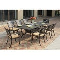 Darlee Ocean View Antique Bronze Cast Aluminum Rectangular 9-piece Dining Set