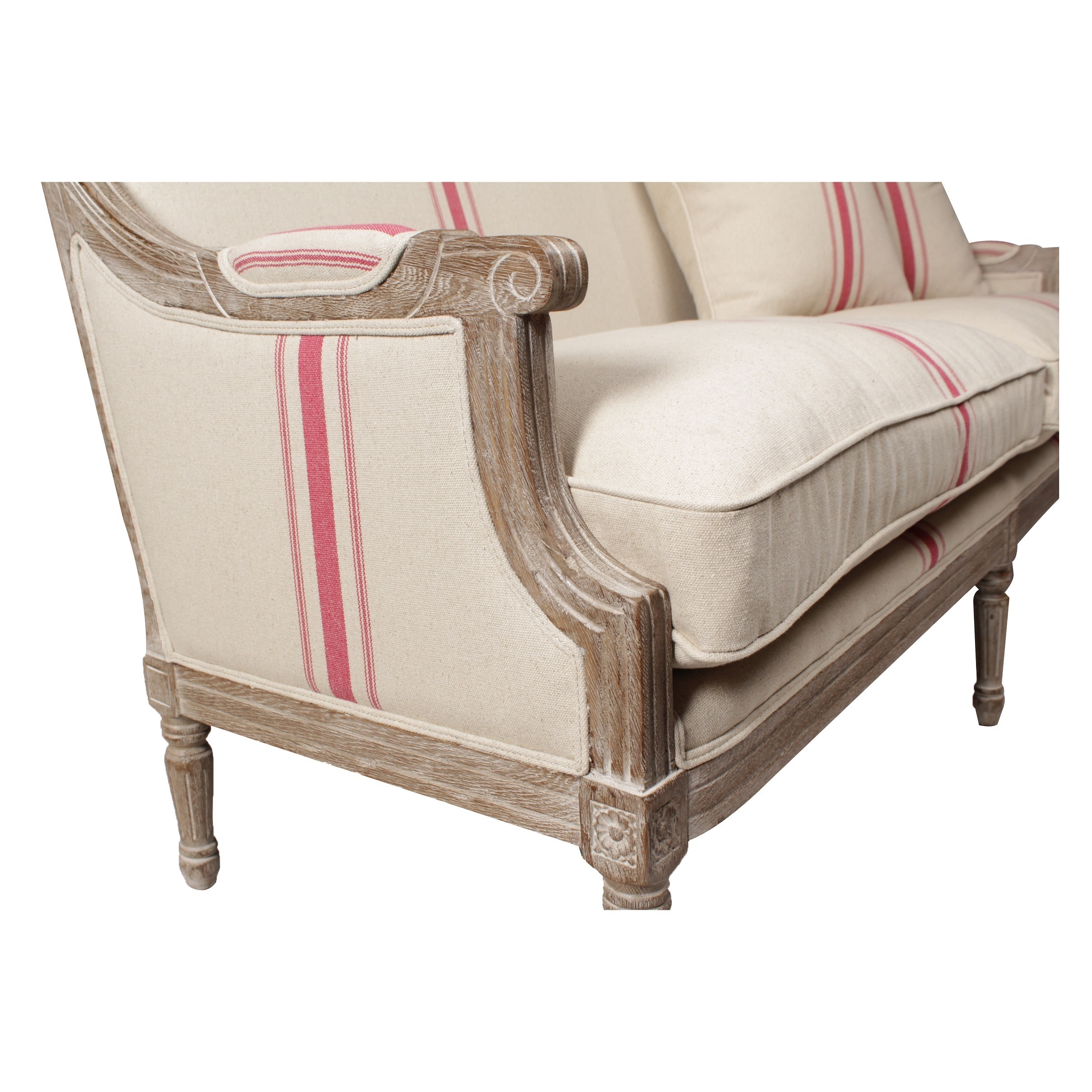 Shop Lafontaine Sofa, Red Stripe   Free Shipping Today   Overstock.com    12653661
