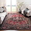 Safavieh Vintage Hamadan Traditional Red/ Multi Distressed Area Rug (7' Square)