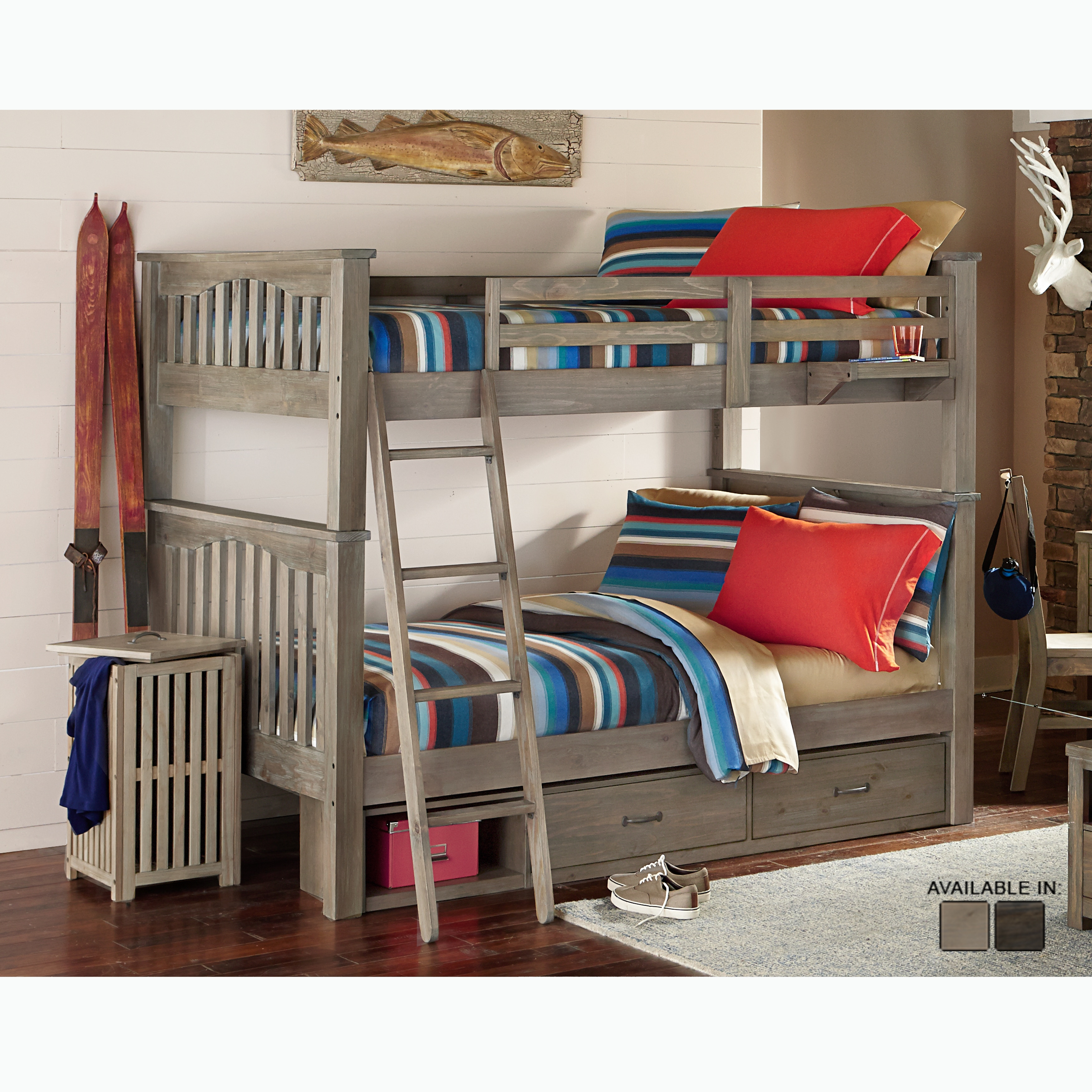 bed storage with bunk twin beds isabelle over full