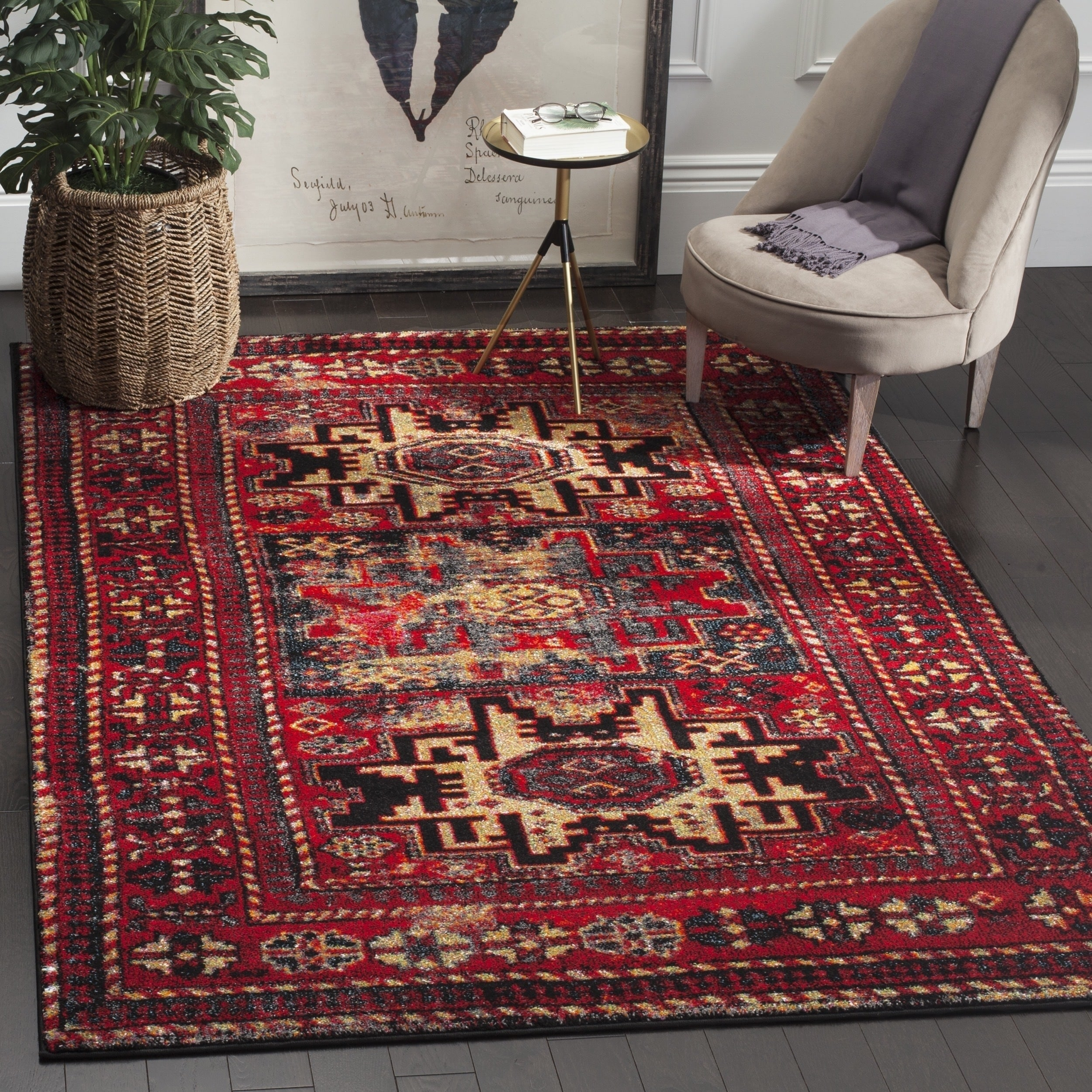 Shop Safavieh Vintage Hamadan Traditional Red Multicolored