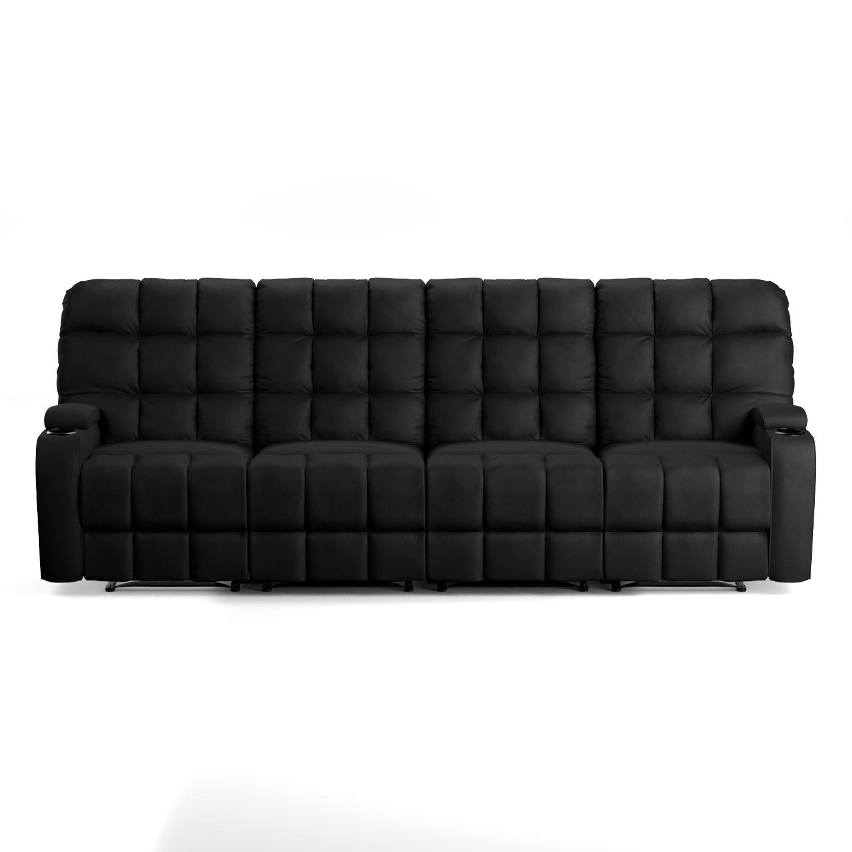 Shop Oliver U0026 James Saskia Black Microfiber Storage Reclining Sofa   Free  Shipping Today   Overstock.com   20133357