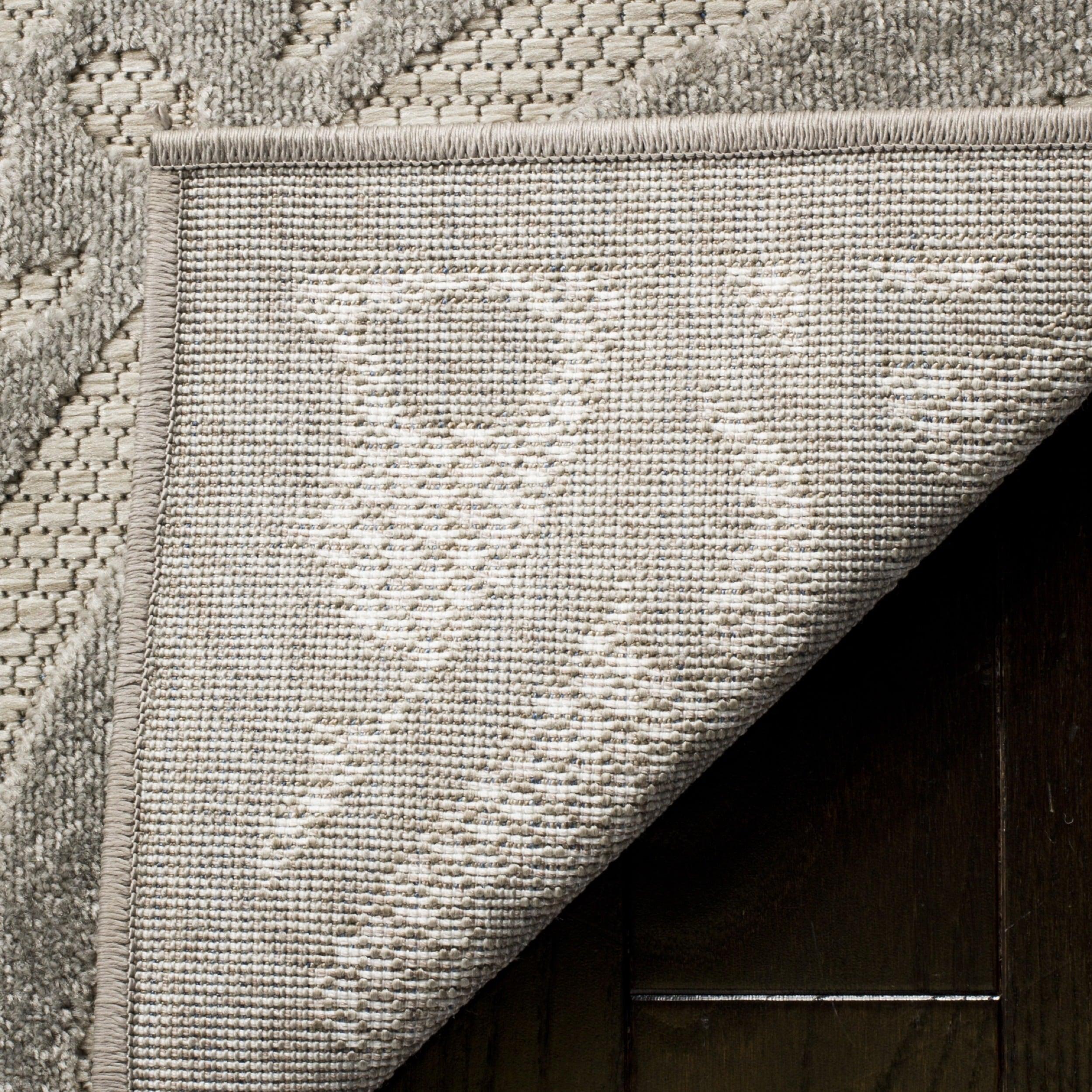 Safavieh Indoor Outdoor Cottage Grey Light Grey Rug  4