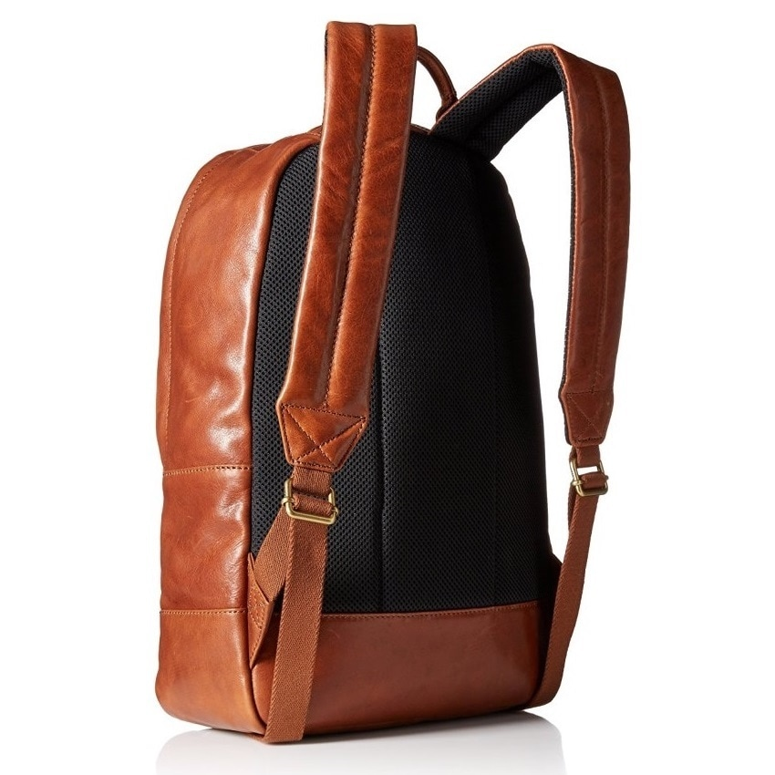 74024810ba Shop Fossil Men's Estate Leather Backpack - Cognac - Free Shipping Today -  Overstock - 12673698