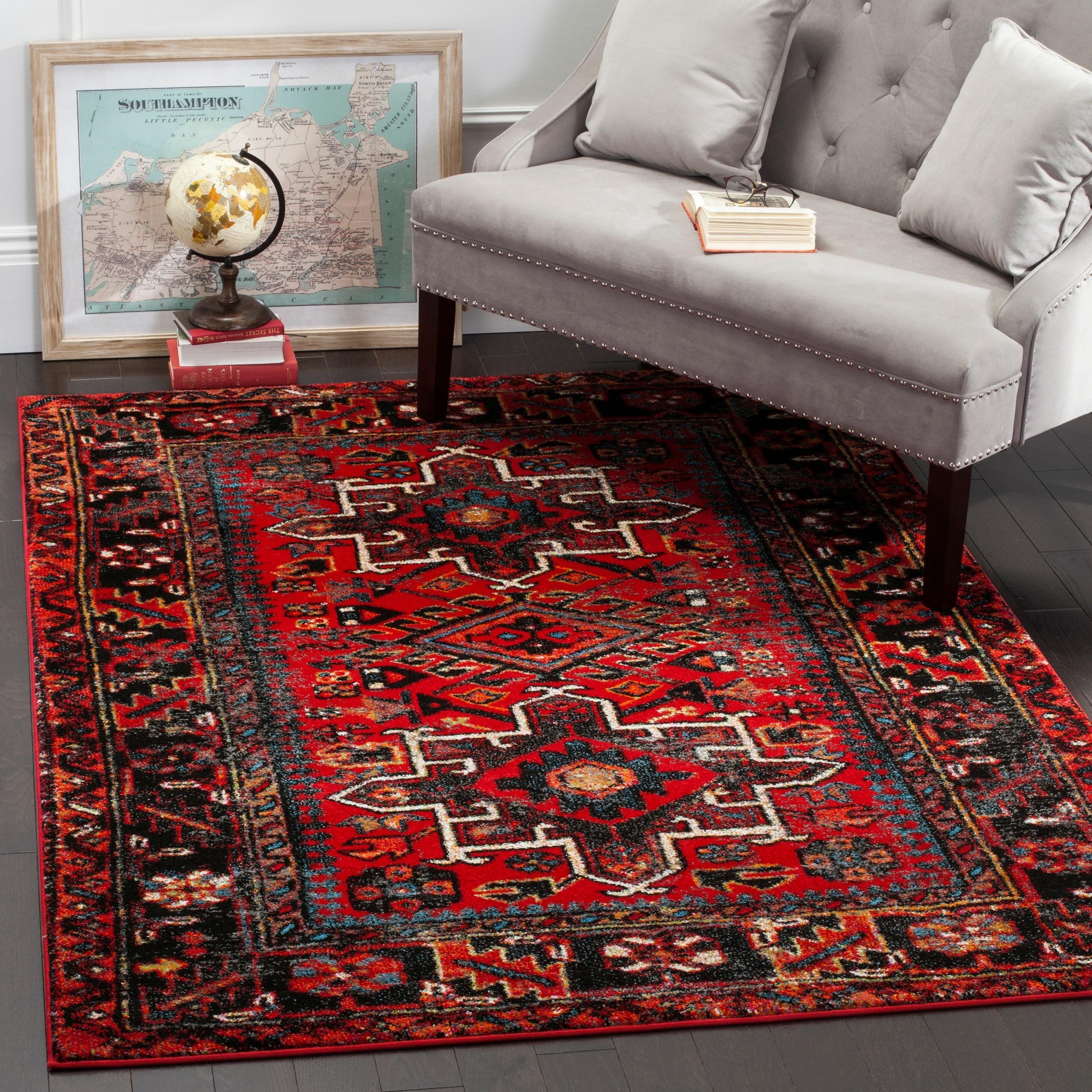 Shop Safavieh Vintage Hamadan Jasmin Traditional Red/ Multi Rug - 2 ...