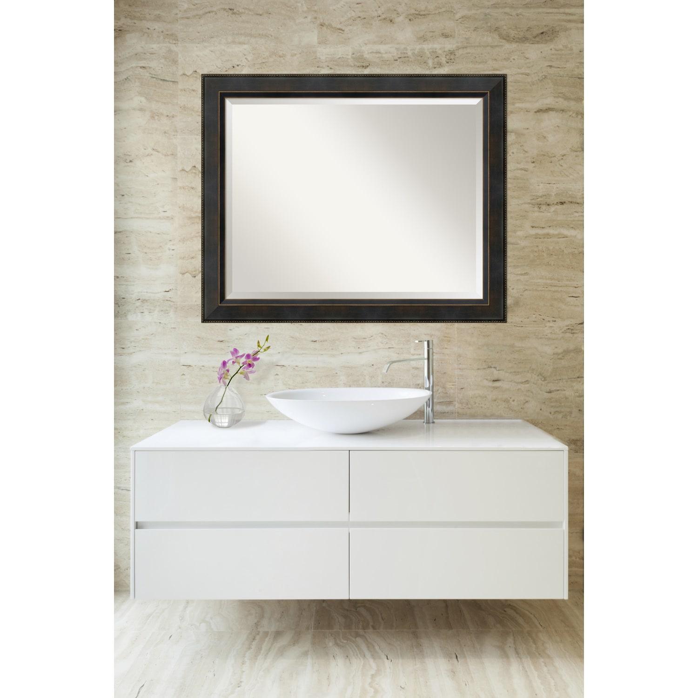 Shop Bathroom Mirror Large, Signore Bronze 33 x 27-inch - On Sale ...