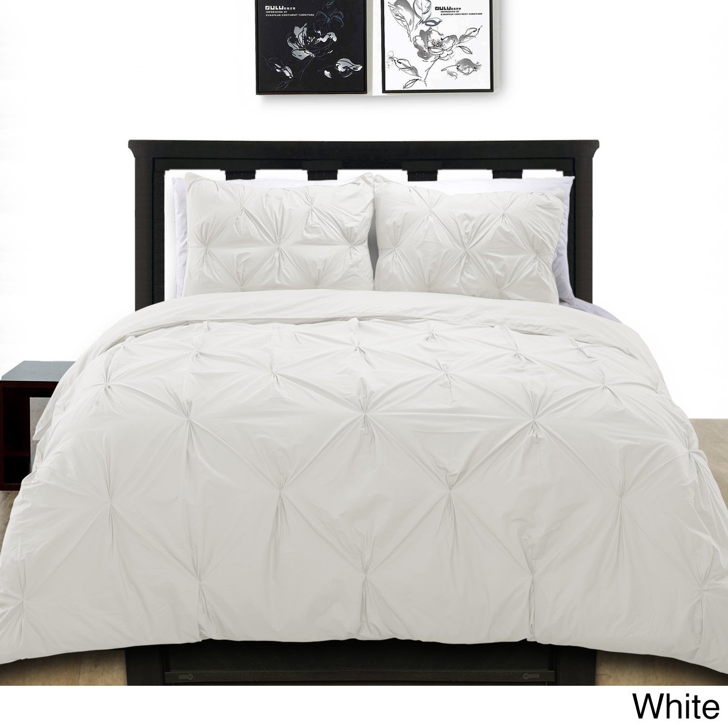 Cotton Basics Pintuck Duvet Cover Mini Set Free Shipping Today 12674540