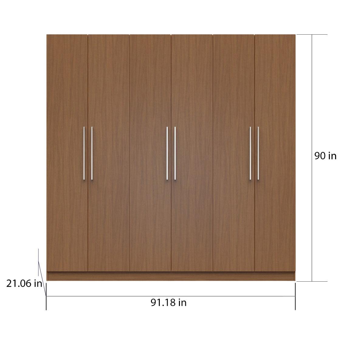 comfort com freestanding bedroom vanilla dp door oak amazon and nude eldridge for closet collection manhattan wardrobe