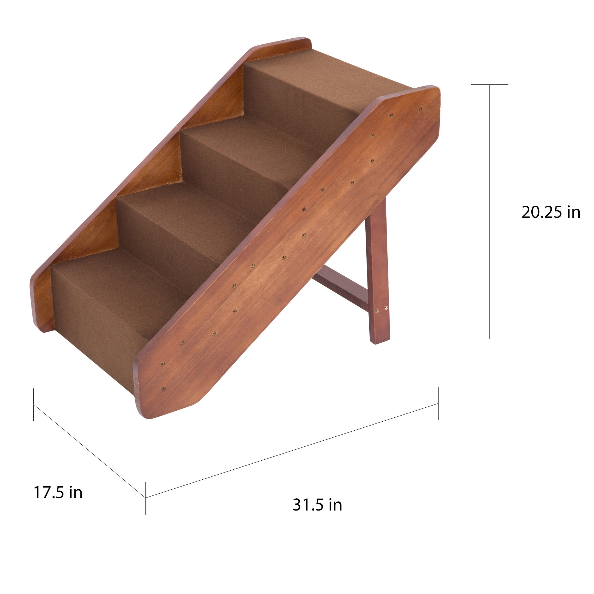 Shop Pawhut Wooden 4 Step Indoor Folding Pet Stairs   Free Shipping Today    Overstock.com   12675721