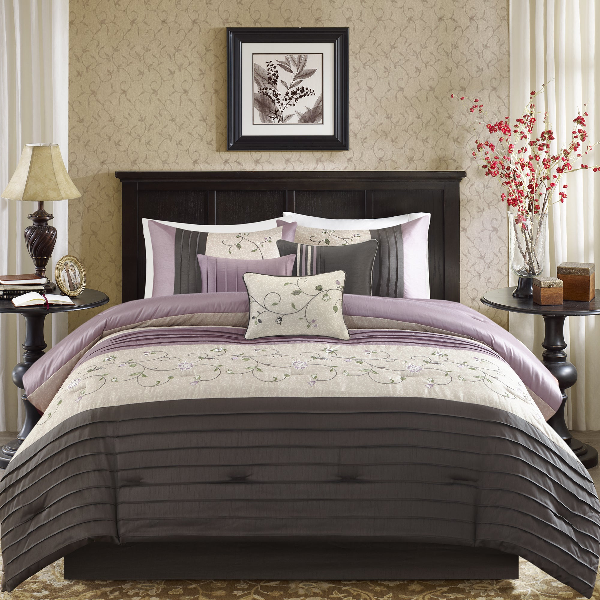 home com amazon medallion grace complete bag kitchen mainstays in bed bedding king set dp a purple