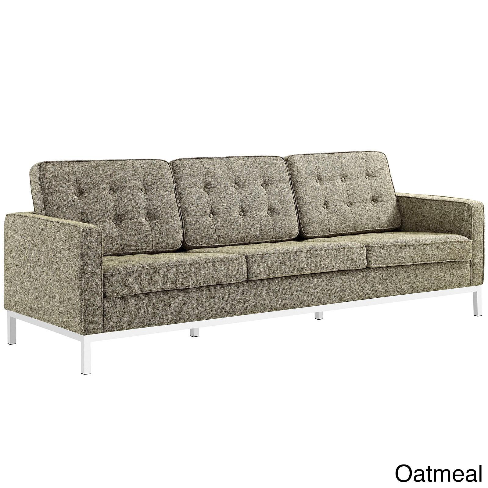 Shop Loft Fabric Upholstered Sofa and Armchair Living Room Set ...