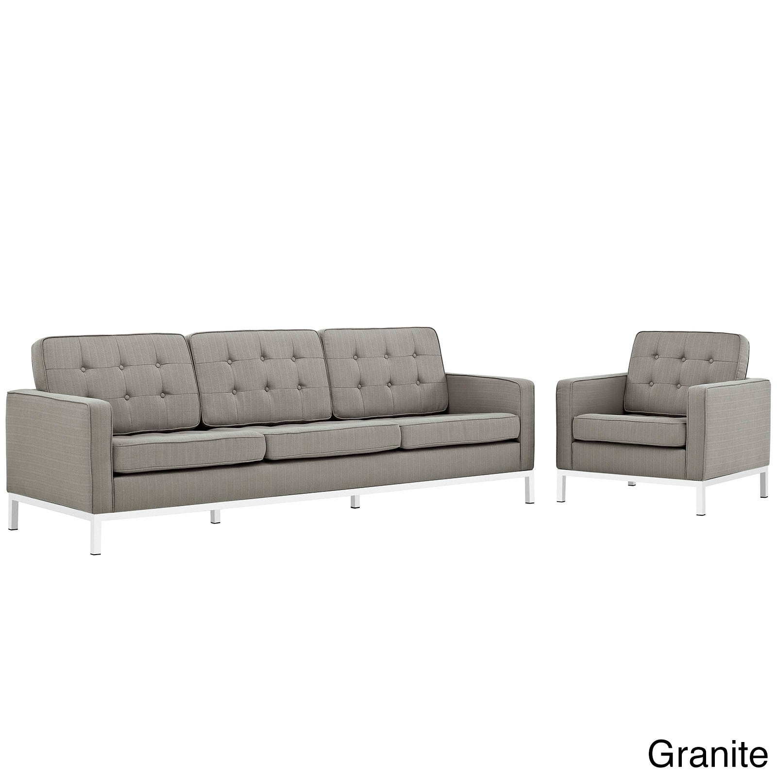 Loft Fabric Upholstered Sofa and Armchair Living Room Set - Free ...