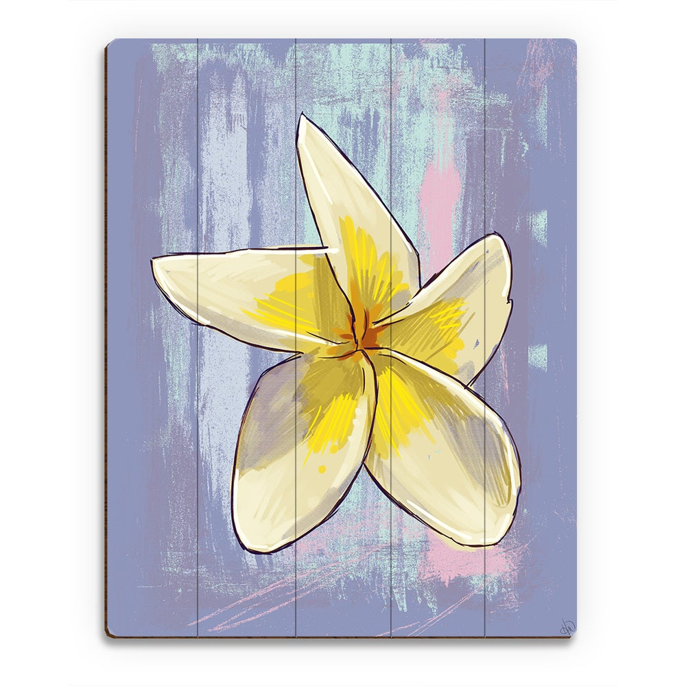 Plumeria on Violet\' Wood Wall Art - Free Shipping Today - Overstock ...