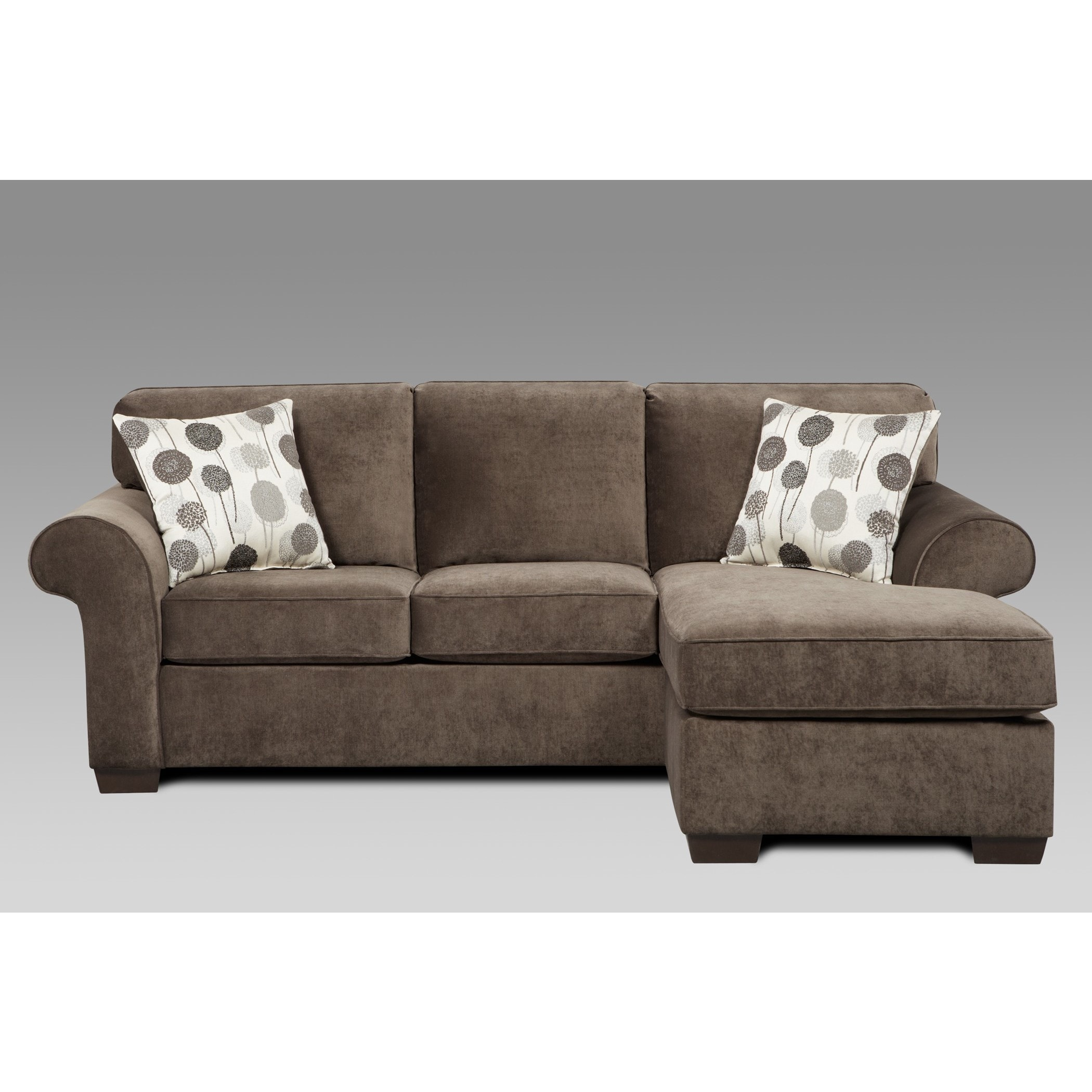 Sofa Trendz Cleo Grey Polyester Sofa/ Chaise Sleeper   Free Shipping Today    Overstock   19467614