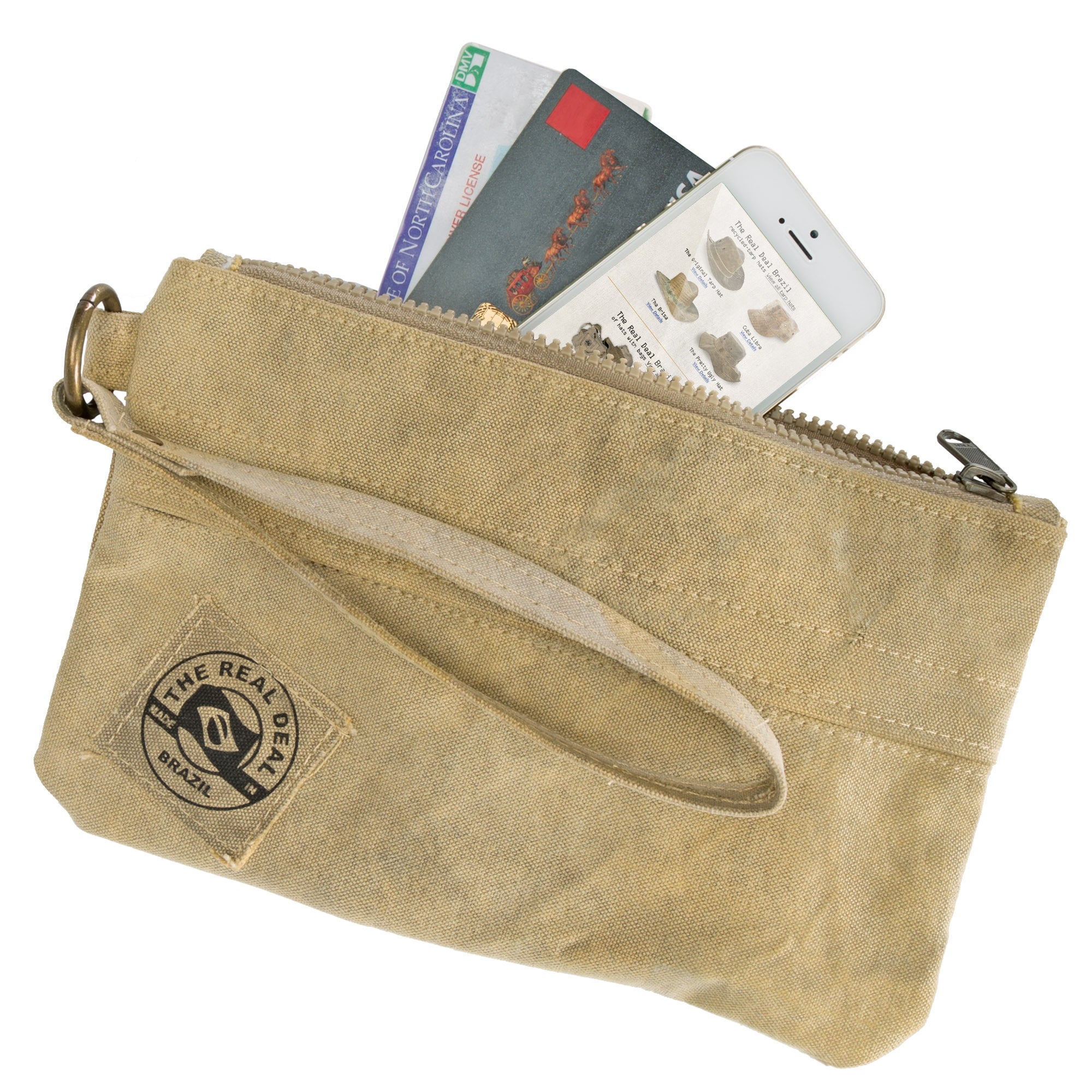 0b8a8dd522a Shop The Real Deal Brazil s Recycled Cotton Canvas Salinas Wristlet - Free  Shipping On Orders Over  45 - Overstock - 12683093