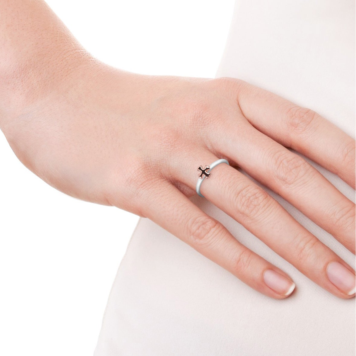 Handmade Peaceful Balanced Cross Gold Over Sterling Silver Ring ...