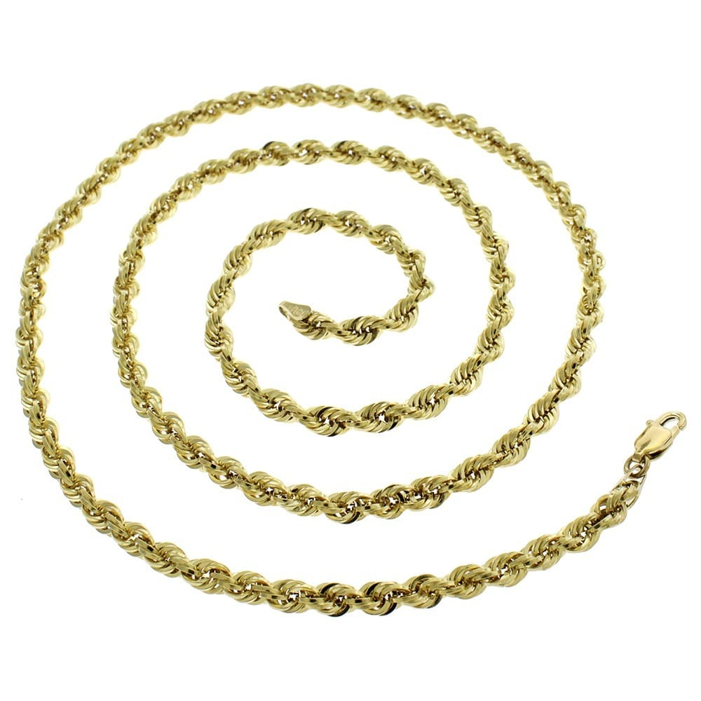 mm box cuban chain itm gold ebay franco necklace inches yellow