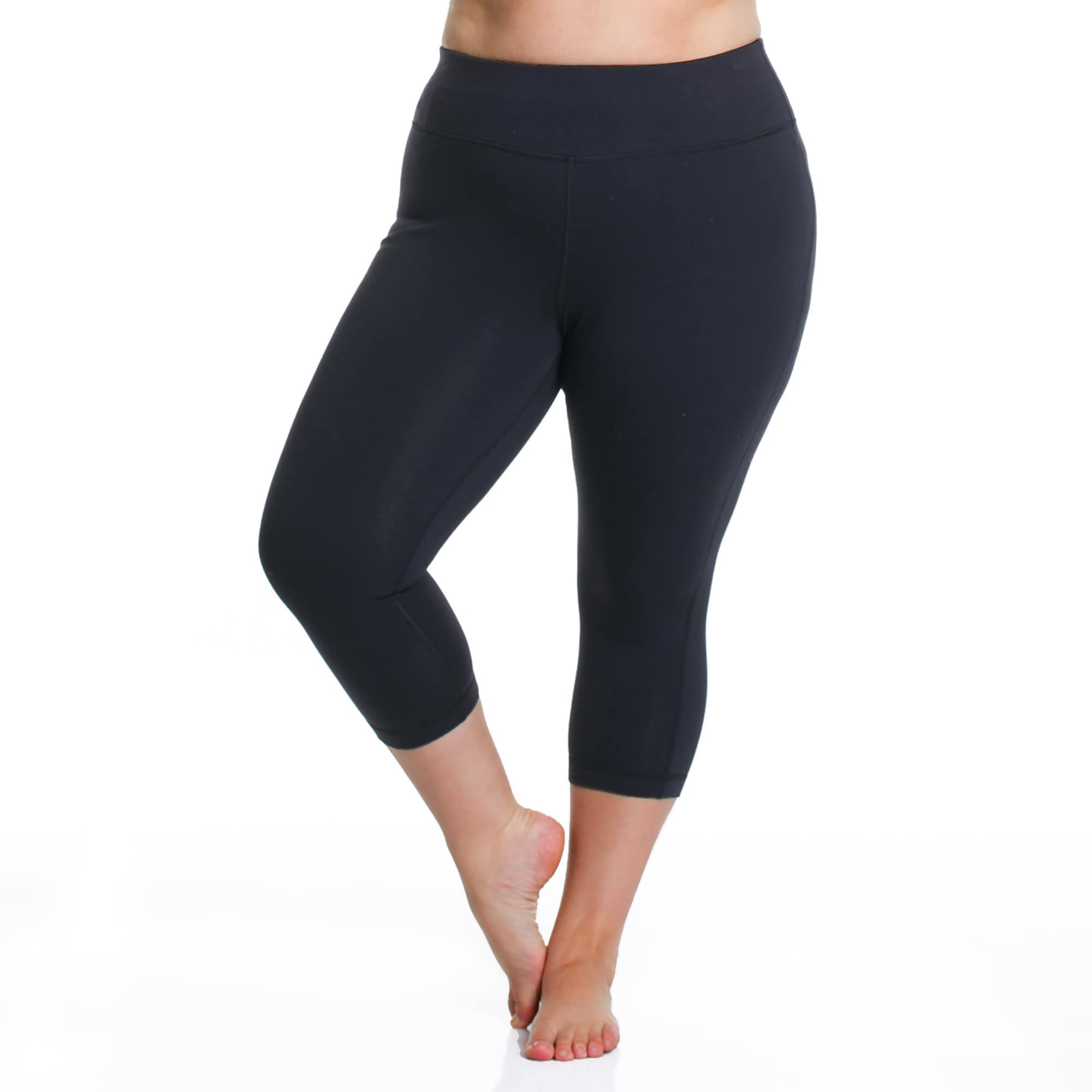 03b7be6f1ab78 Shop Rainbeau Curves Curve Basix Capri Pants - Free Shipping On Orders Over   45 - Overstock.com - 12684822