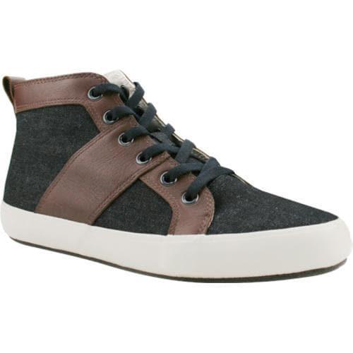 Men's Burnetie Leo High Top Sneaker Grey Textile/Leather