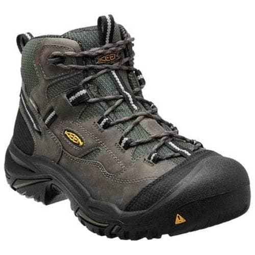 Men's Keen Utility Braddock Mid Steel Toe Boot Gargoyle/Forest Night