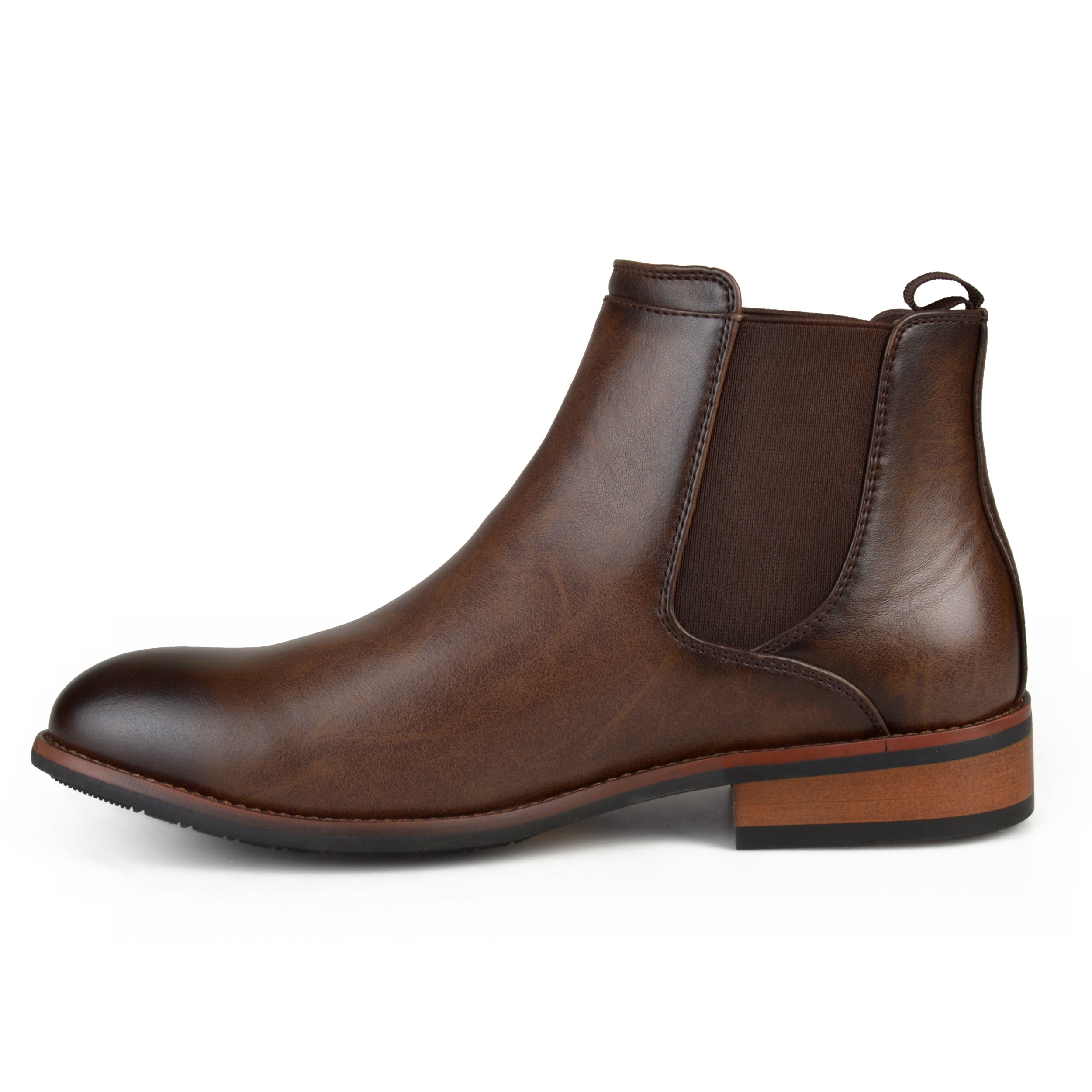 eca411ca348 Shop Vance Co. Men's 'Landon' Round Toe High Top Chelsea Dress Boots - Free  Shipping Today - Overstock - 12706210