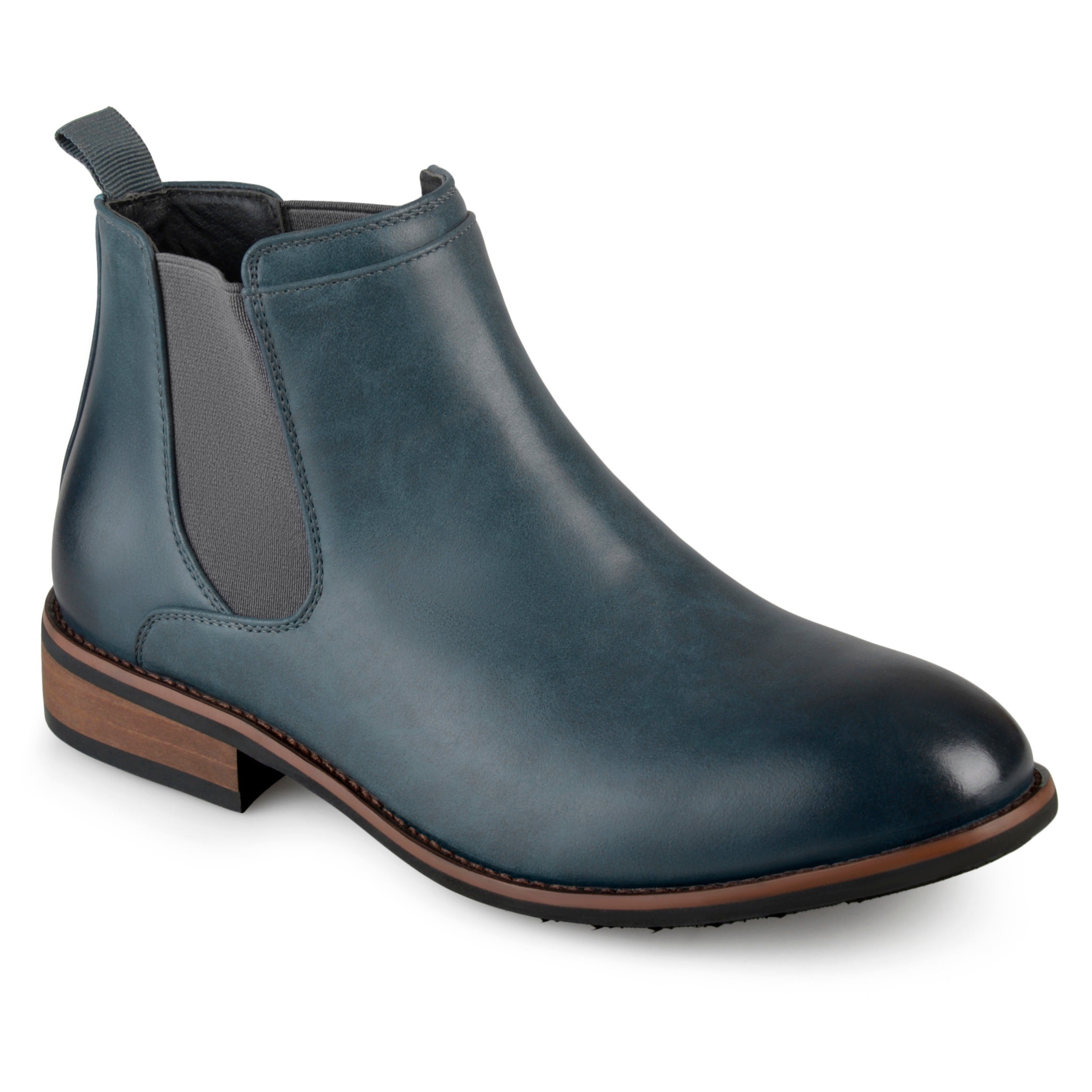 4ef432e118 Men s  Landon  Round Toe High Top Chelsea Dress Boots - Free Shipping Today  - Overstock - 12706210