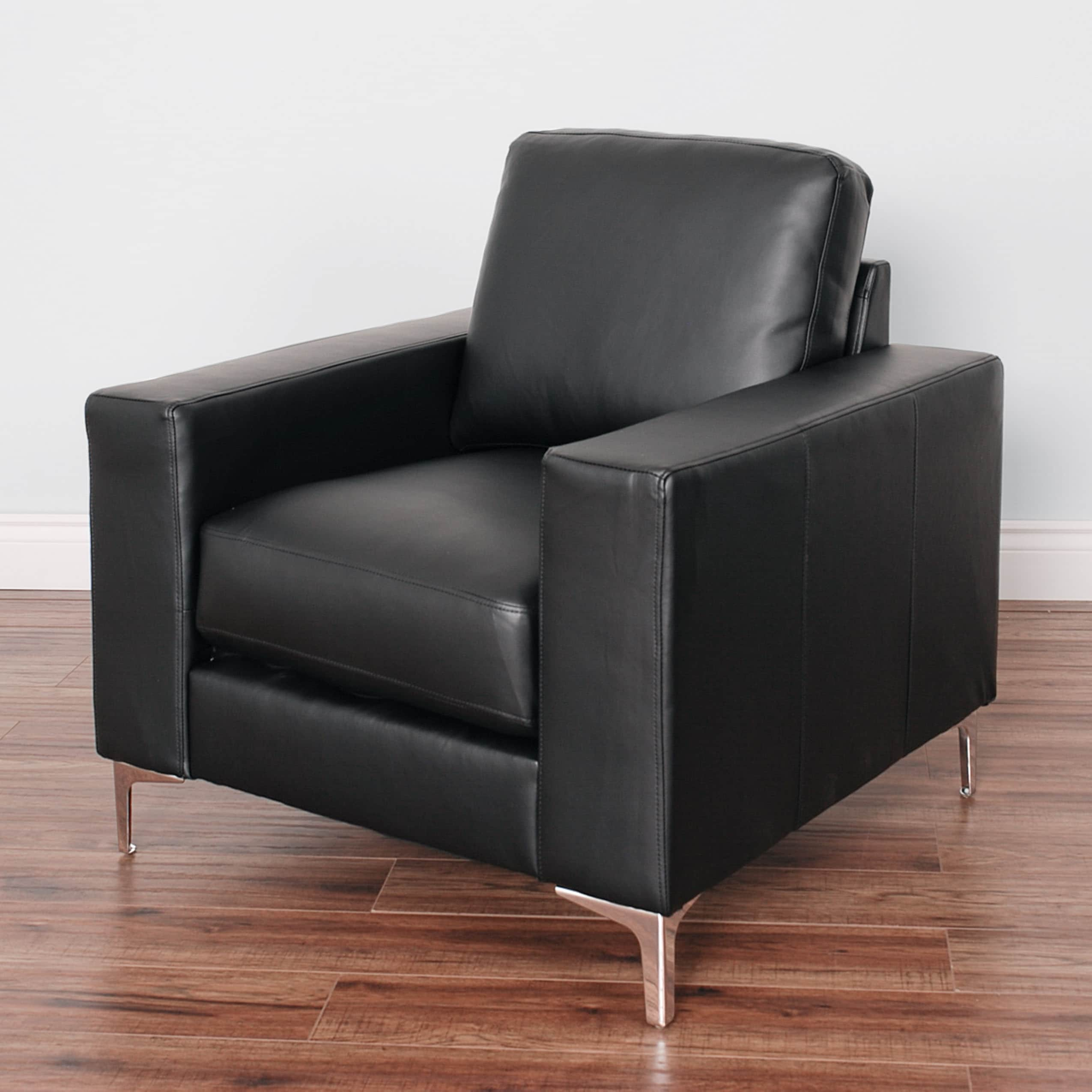 Corliving Cory Contemporary Bonded Leather Arm Chair Free Shipping Today 12710368