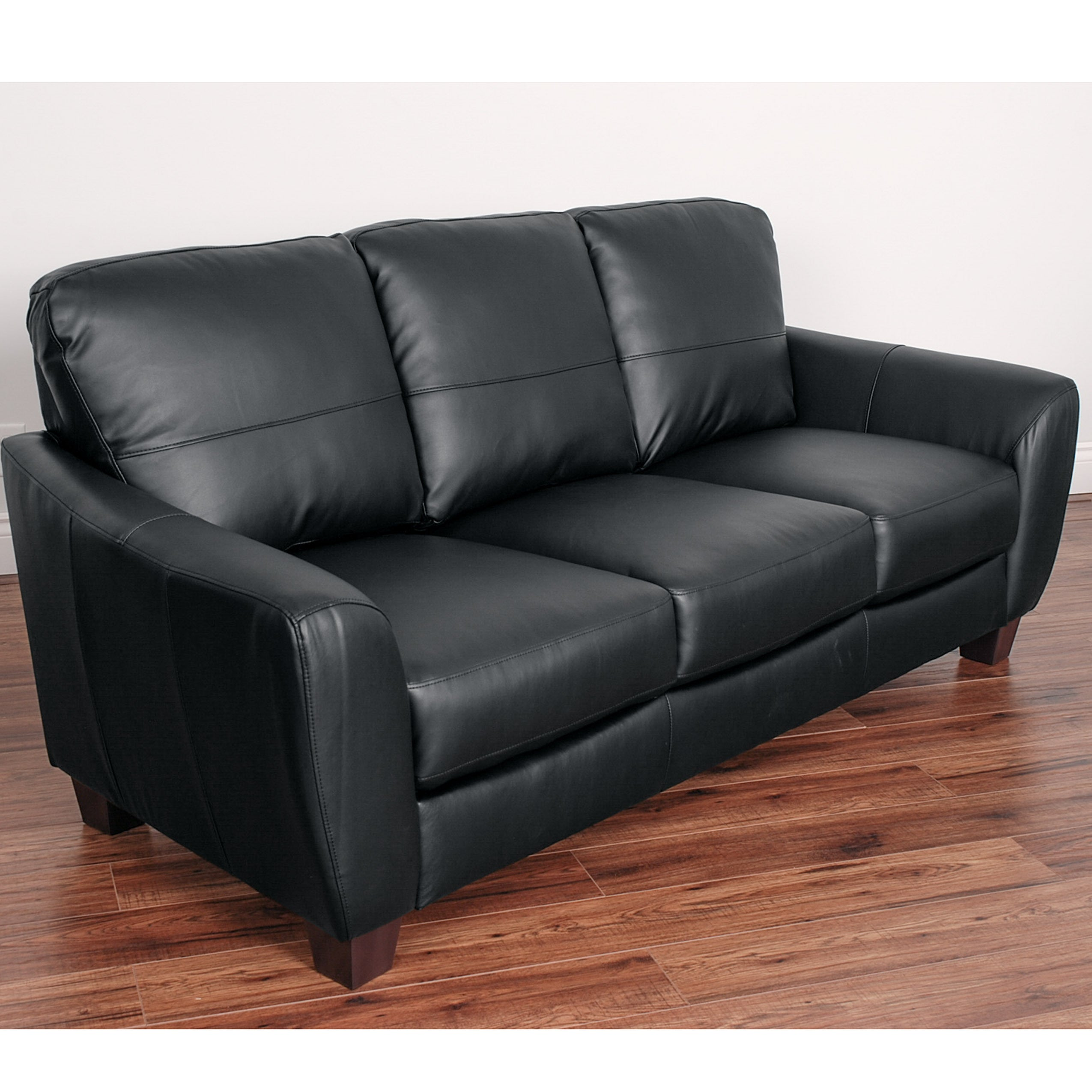 Perfect CorLiving Jazz Bonded Leather Sofa   Free Shipping Today   Overstock    19491761
