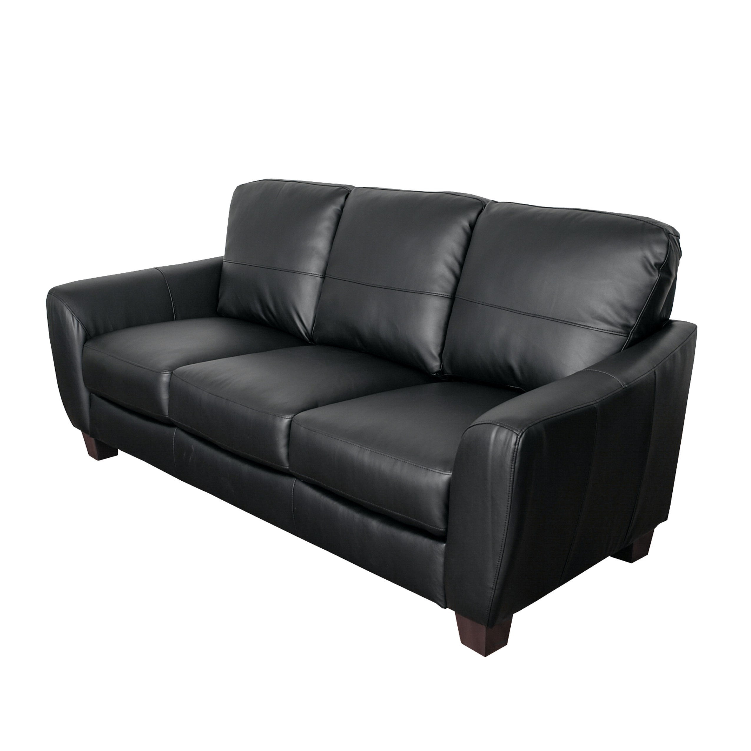 Shop CorLiving Jazz Bonded Leather Sofa   Free Shipping Today    Overstock.com   12710383