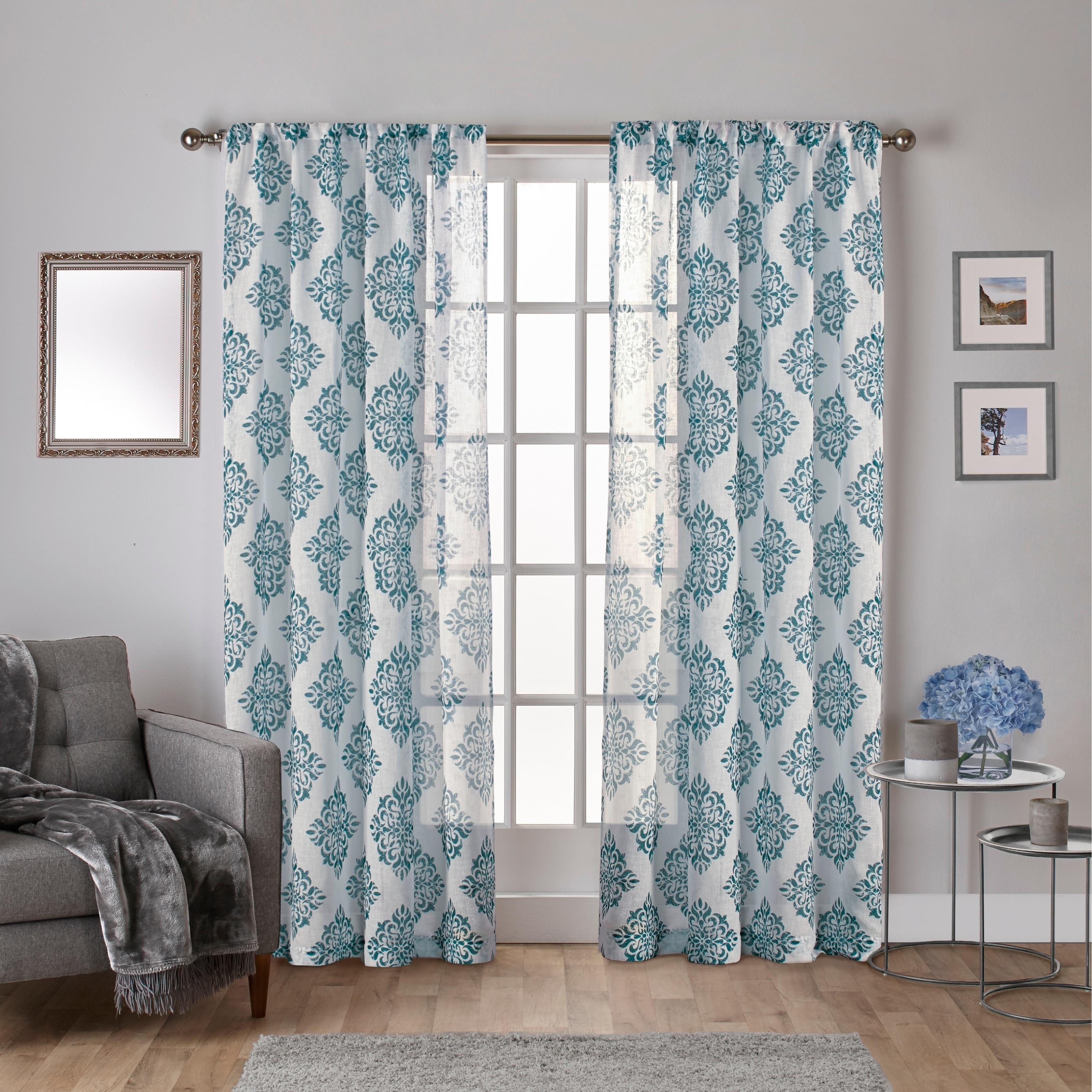 Shop ATI Home Nagano Belgian Linen Sheer Rod Pocket Top Curtain ...