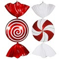 Peppermint Candy 18-inch Assorted Ornaments (Set of 2)