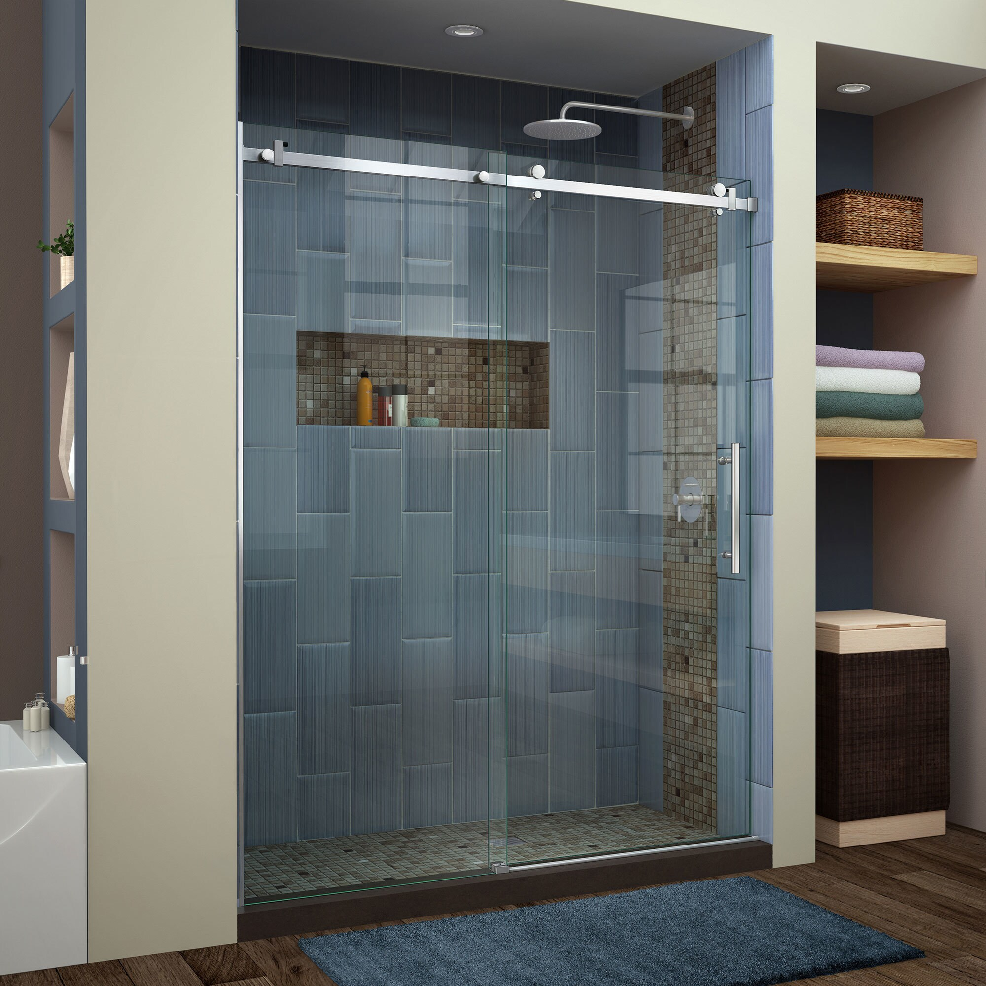 frameless home improvement shower enigma x dreamline clear doors wayfair single technology pdx door z max with sliding