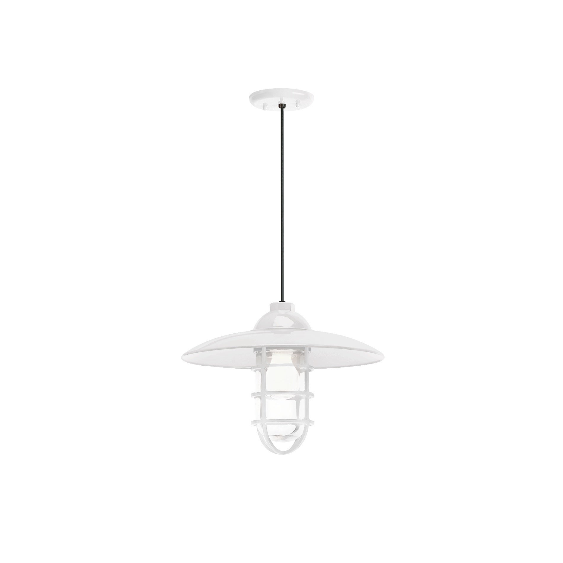 Troy rlm lighting retro industrial gloss white dome wire guard troy rlm lighting retro industrial gloss white dome wire guard pendant free shipping today overstock 19494476 arubaitofo Images