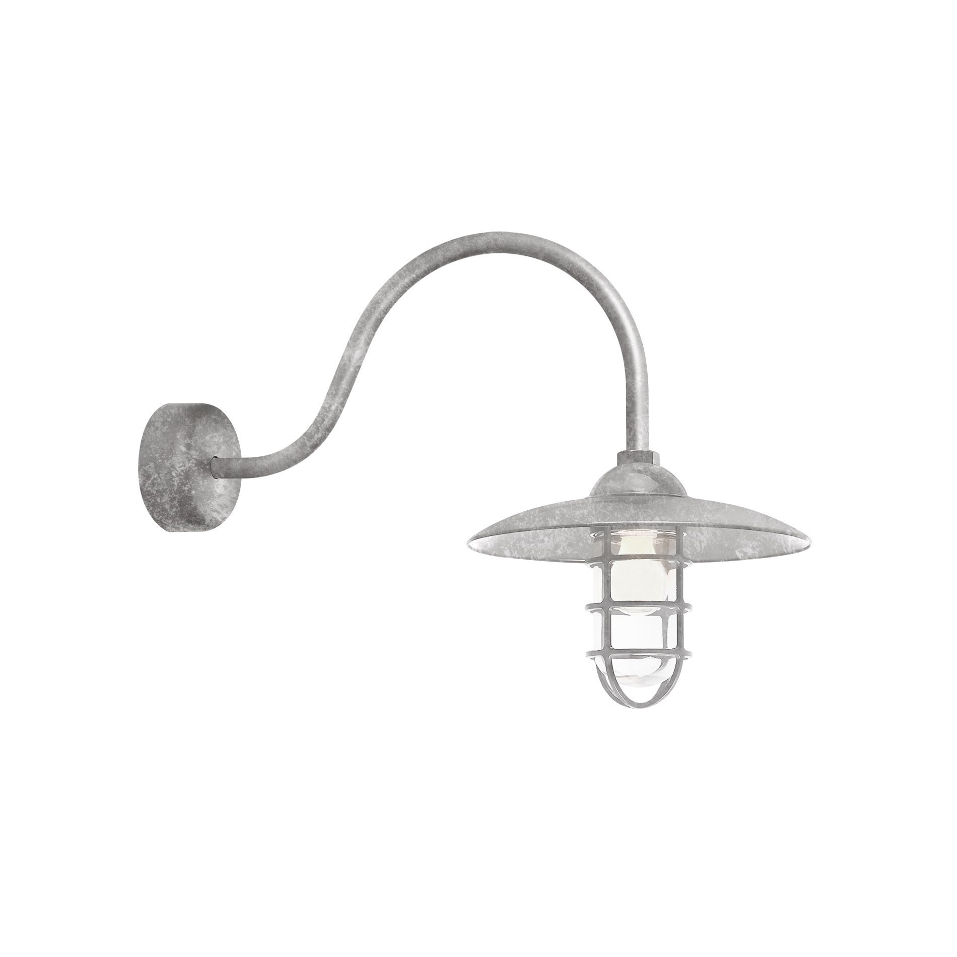 Troy rlm lighting retro industrial galvanized 23 inch arm dome wire troy rlm lighting retro industrial galvanized 23 inch arm dome wire guard wall sconce free shipping today overstock 19495438 arubaitofo Images