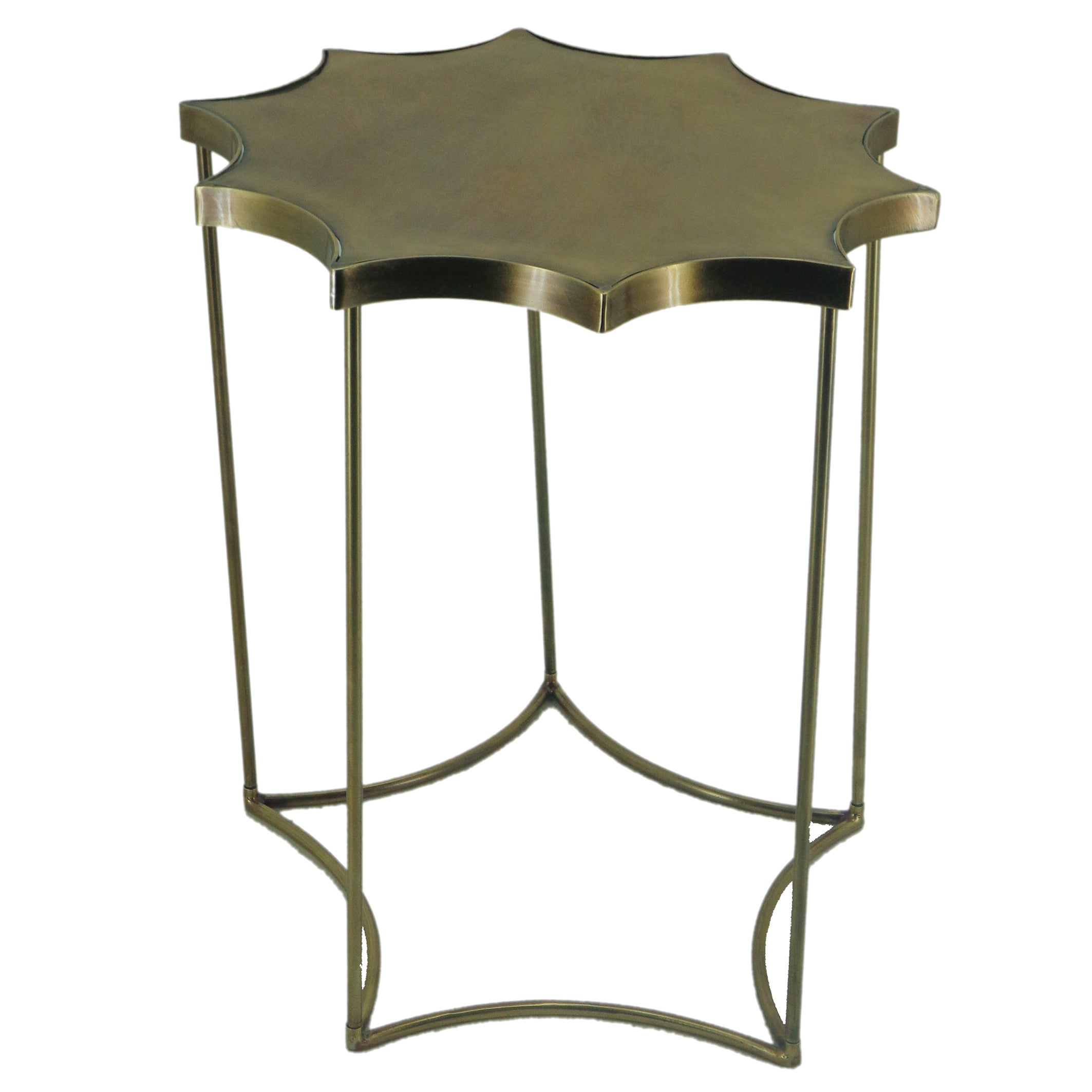 Shop brass starburst end table free shipping today overstock com 12715376