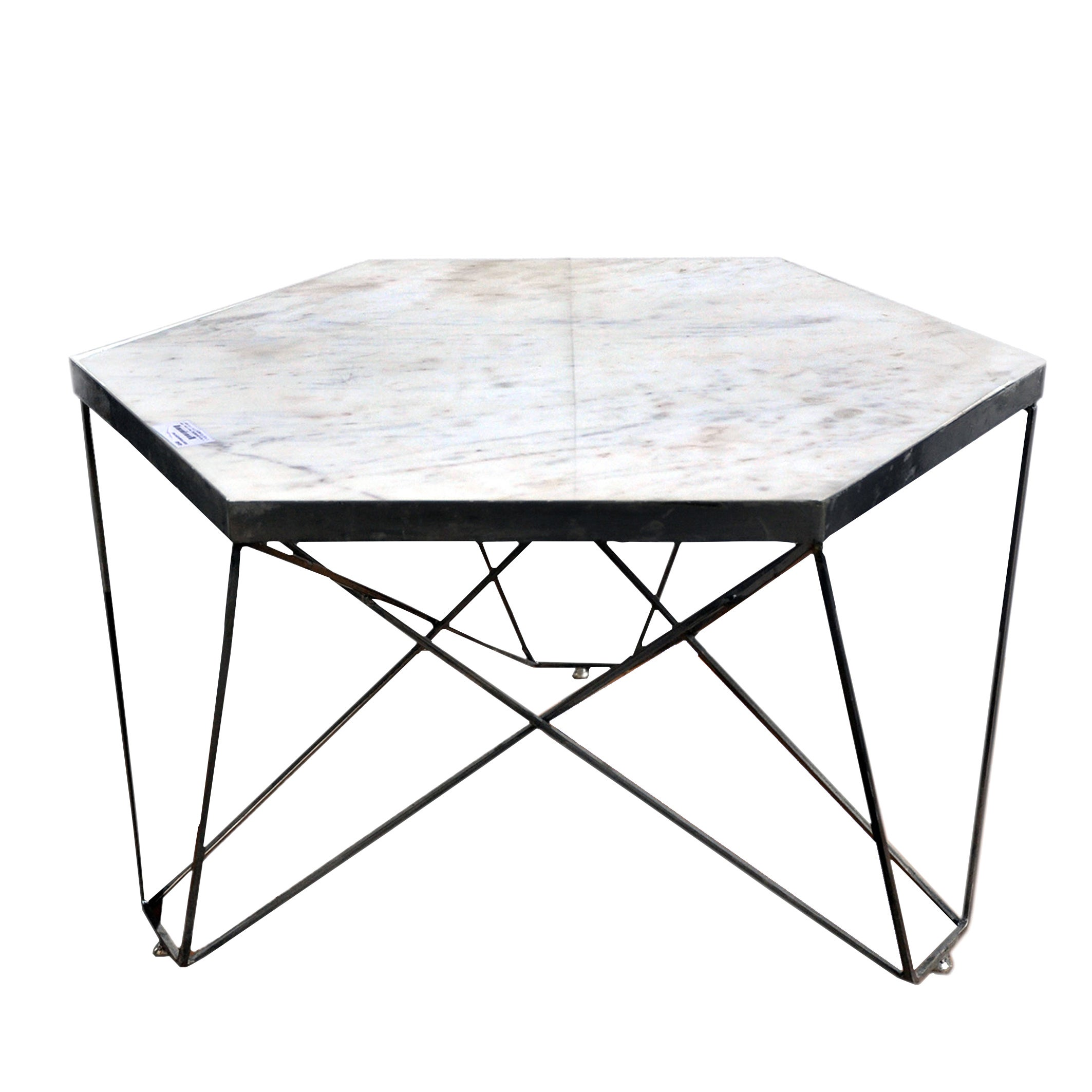 Hexagon Marble Coffee Table Free Shipping Today 12715441