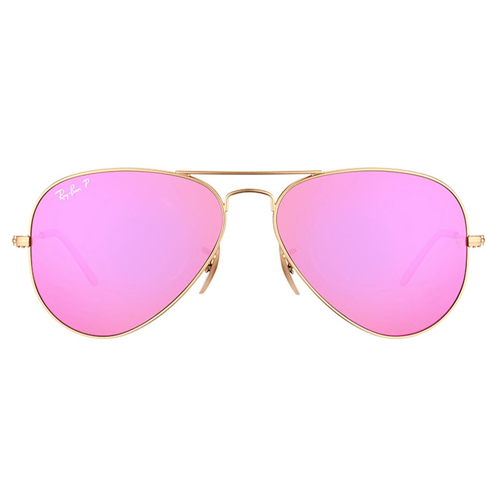09d1929d238 Shop Ray-Ban RB 3025 112 1Q Classic Aviator Matte Goldtone Metal Aviator  Sunglasses With Fuchsia Mirror Polarized Lenses - Free Shipping Today -  Overstock - ...