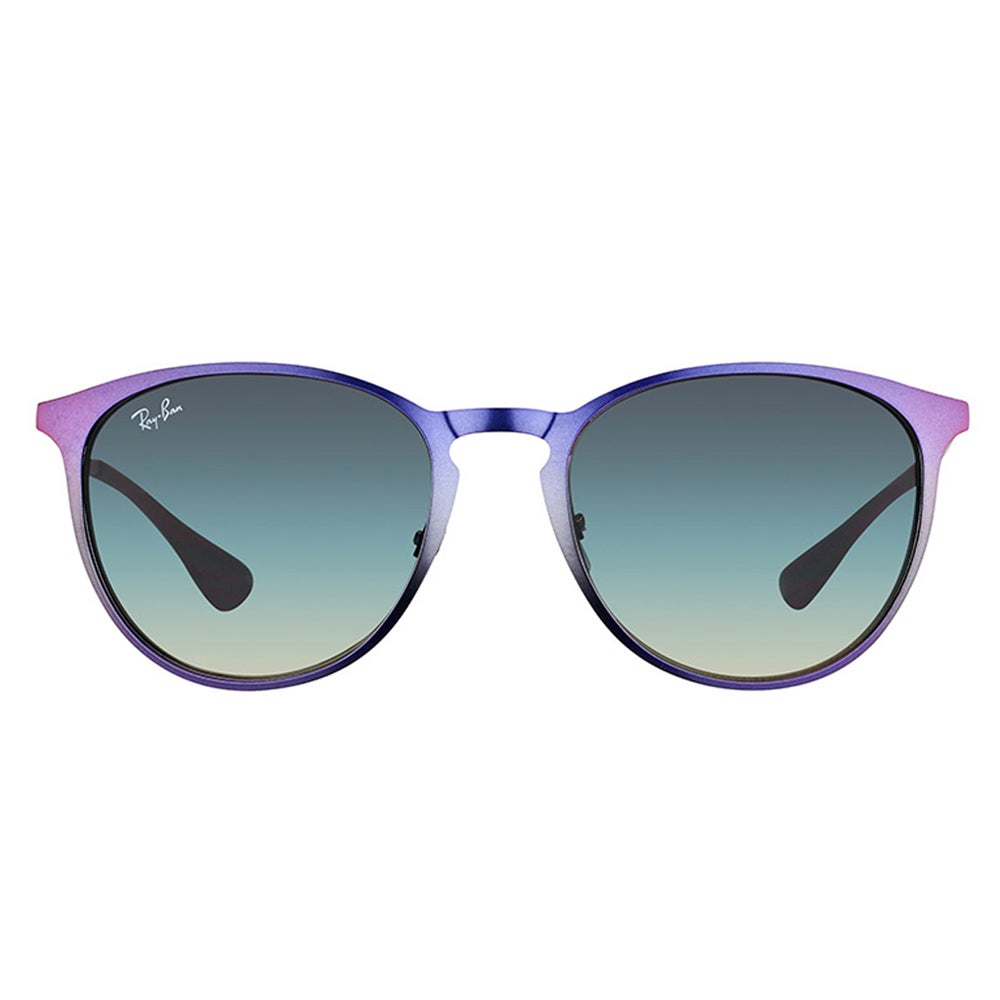 4cb740e569 Shop Ray-Ban RB 3539 195 11 Erika Metal Shot Violet Metallic Metal Round  Sunglasses With Grey Gradient Lenses - Free Shipping Today - Overstock -  12720908