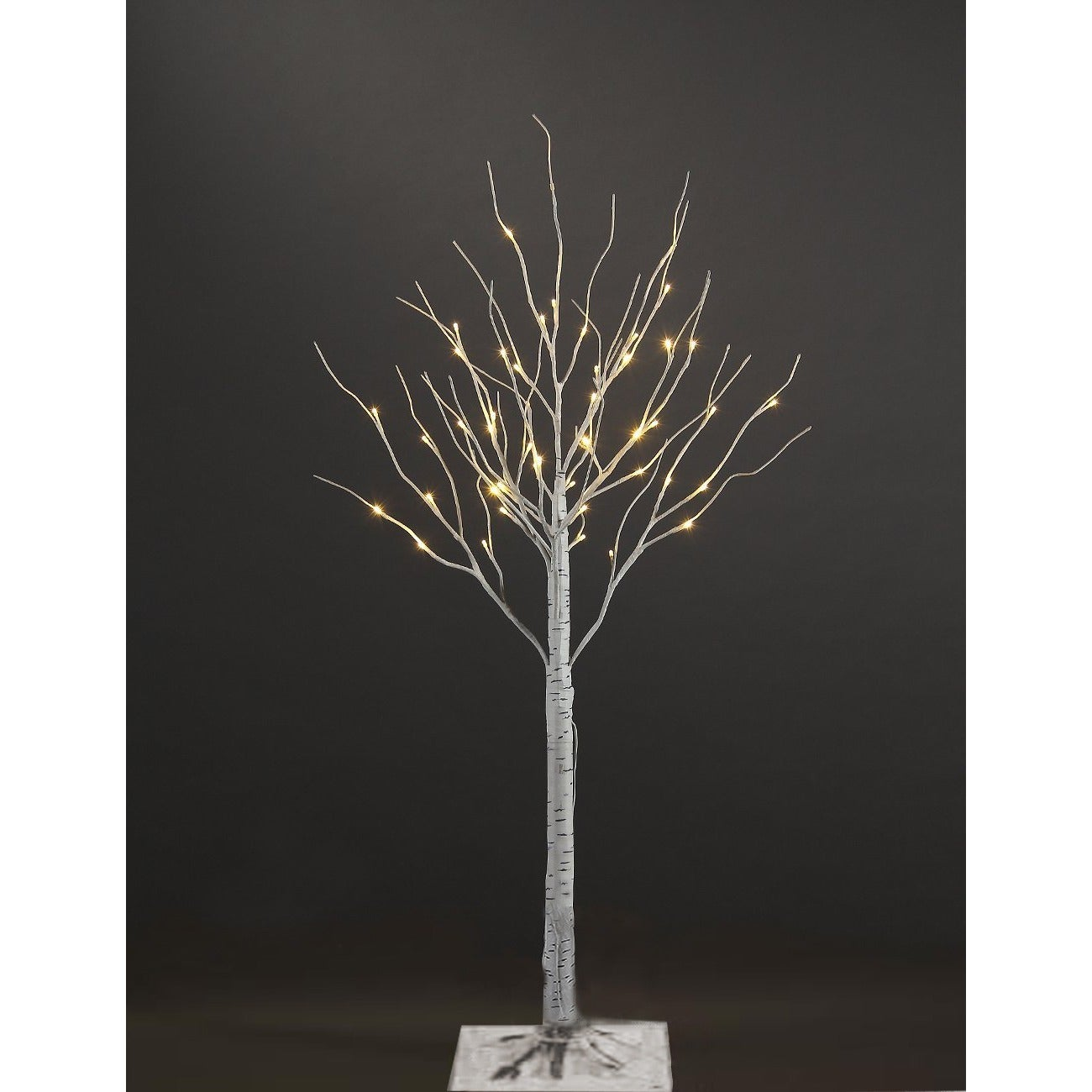 white artificial birch christmas tree with 36 warm white lights free shipping on orders over 45 overstockcom 12727993