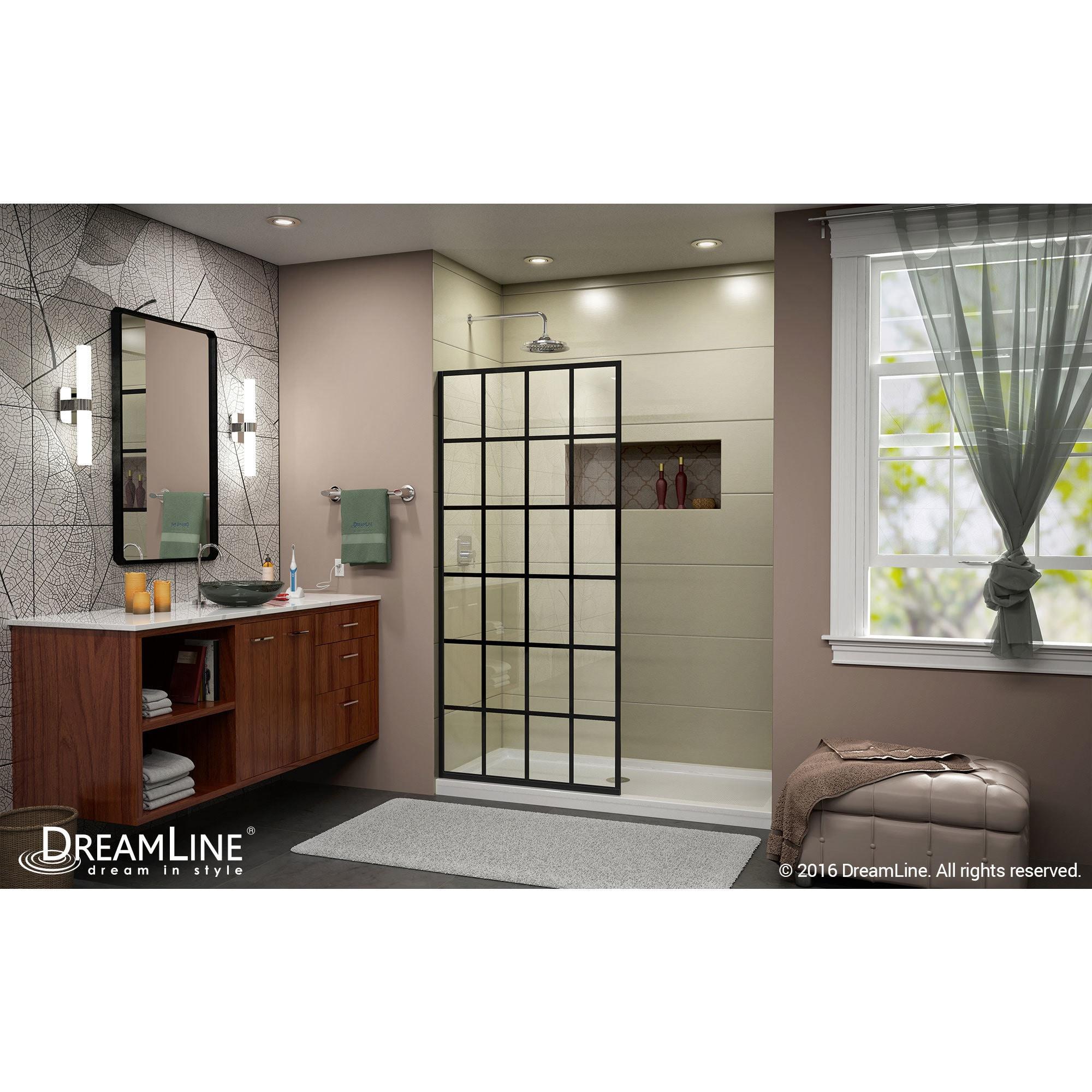 Shop Dreamline French Linea Toulon 34 In W X 72 In H Single Panel