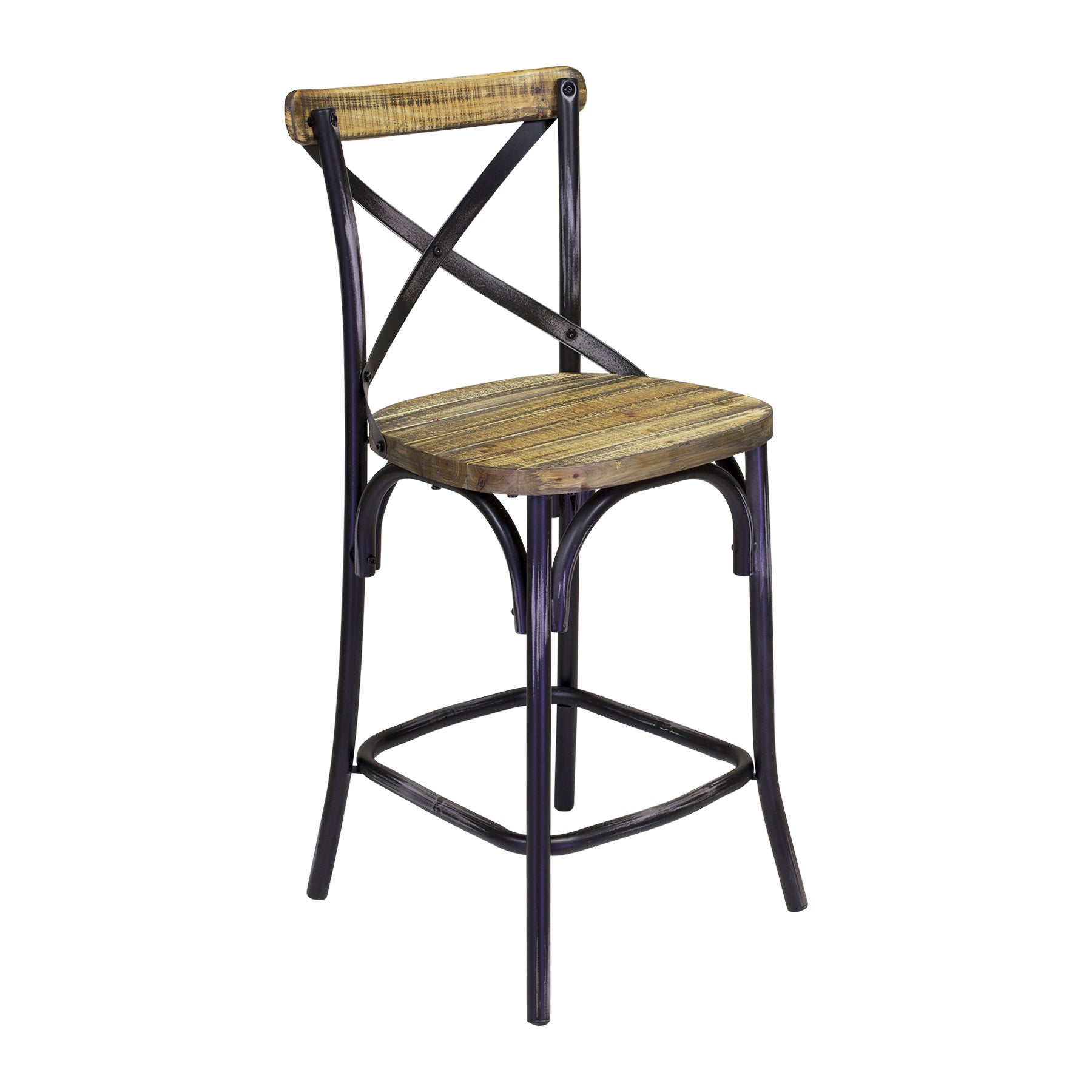 Bella Cross Back Counter Stool Free Shipping Today 12729418