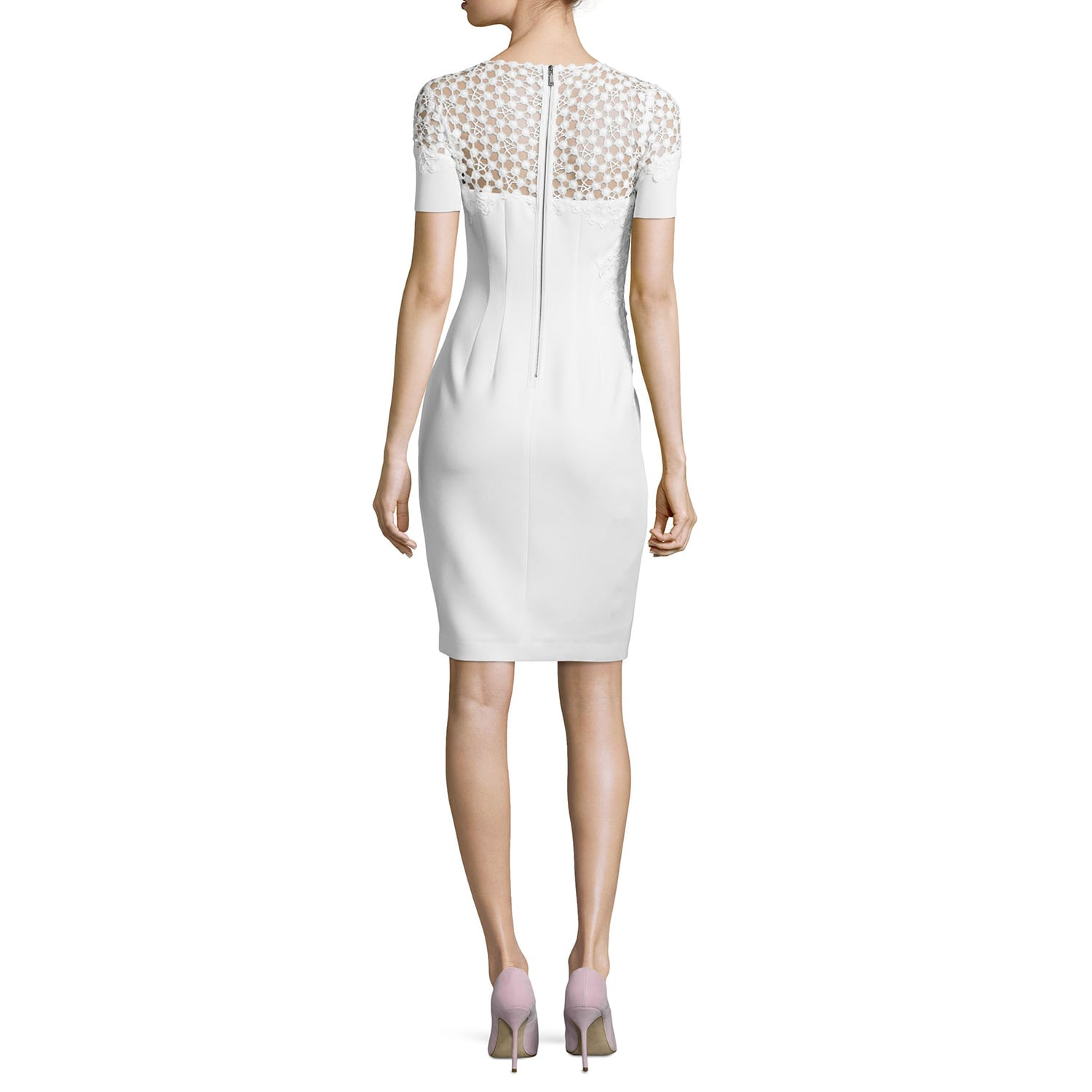 81ed6b5eb7af Shop Elie Tahari Women's Suzie Lace Trim Dress - Free Shipping Today -  Overstock - 12730084